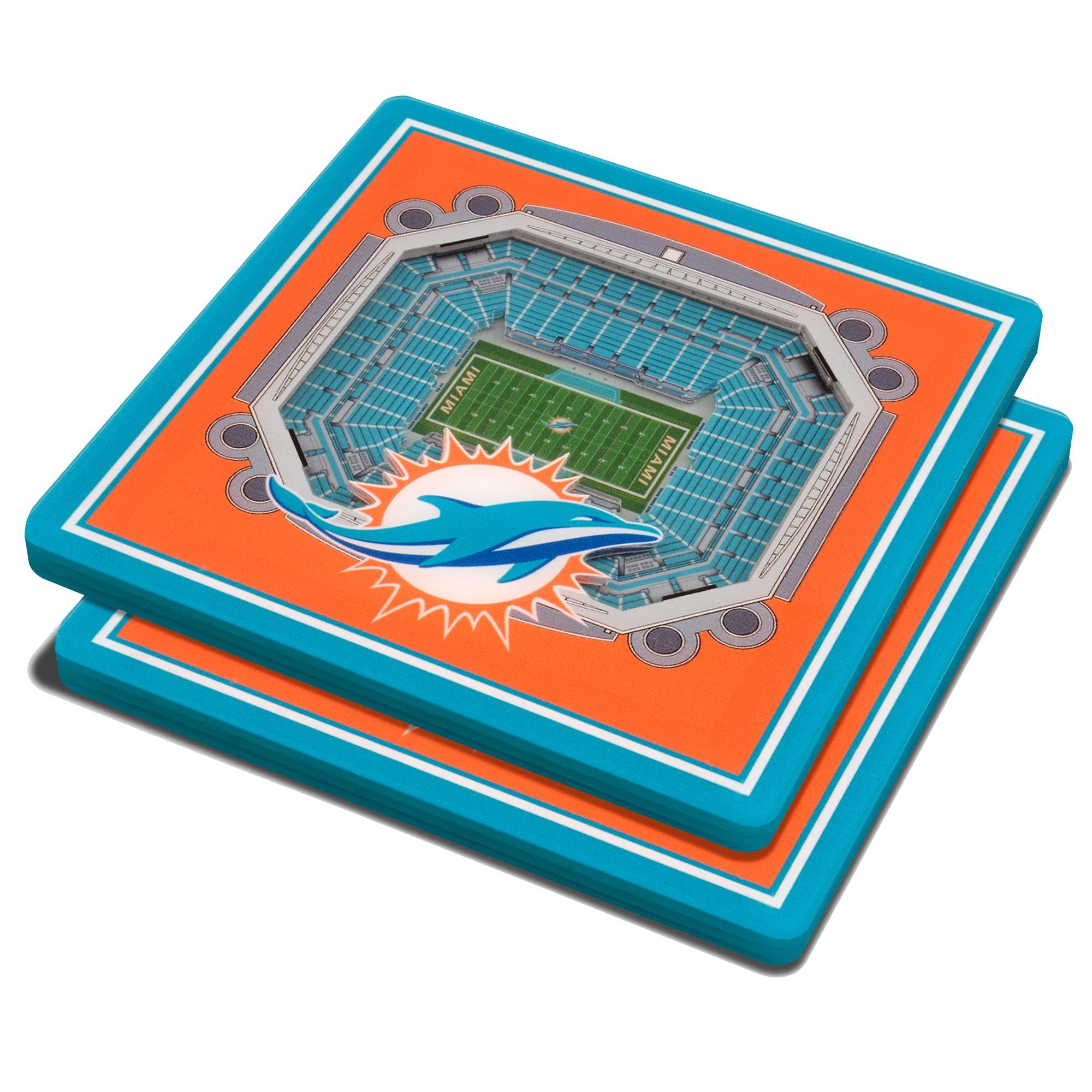 Miami Dolphins 3D StadiumViews Coasters - Orange