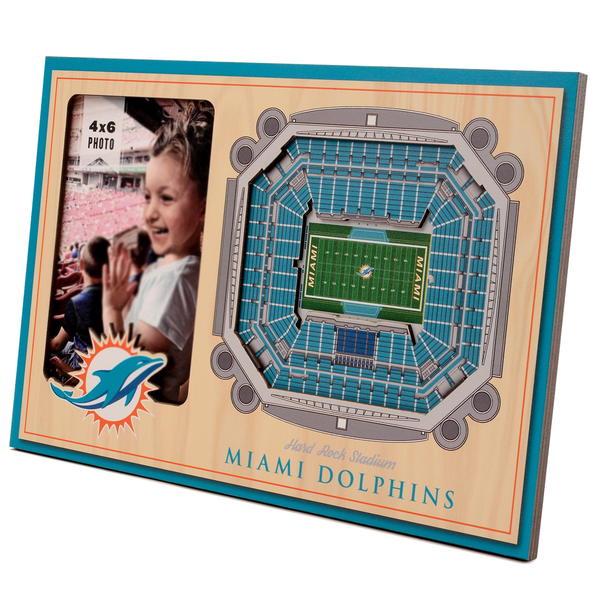 Miami Dolphins 3D StadiumViews Picture Frame - Brown
