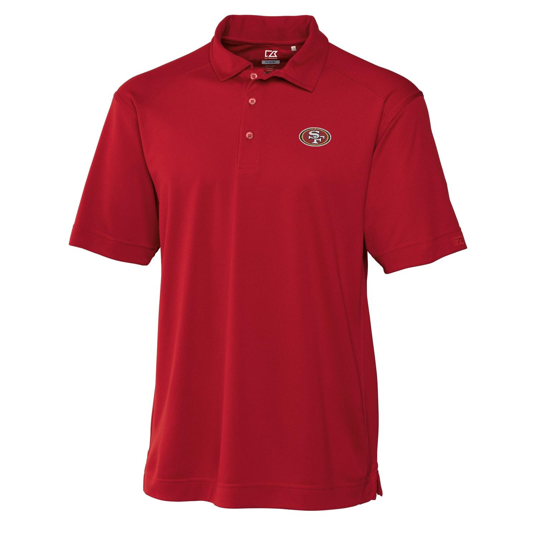 San Francisco 49ers Cutter & Buck Big & Tall DryTec Genre Polo - Scarlet