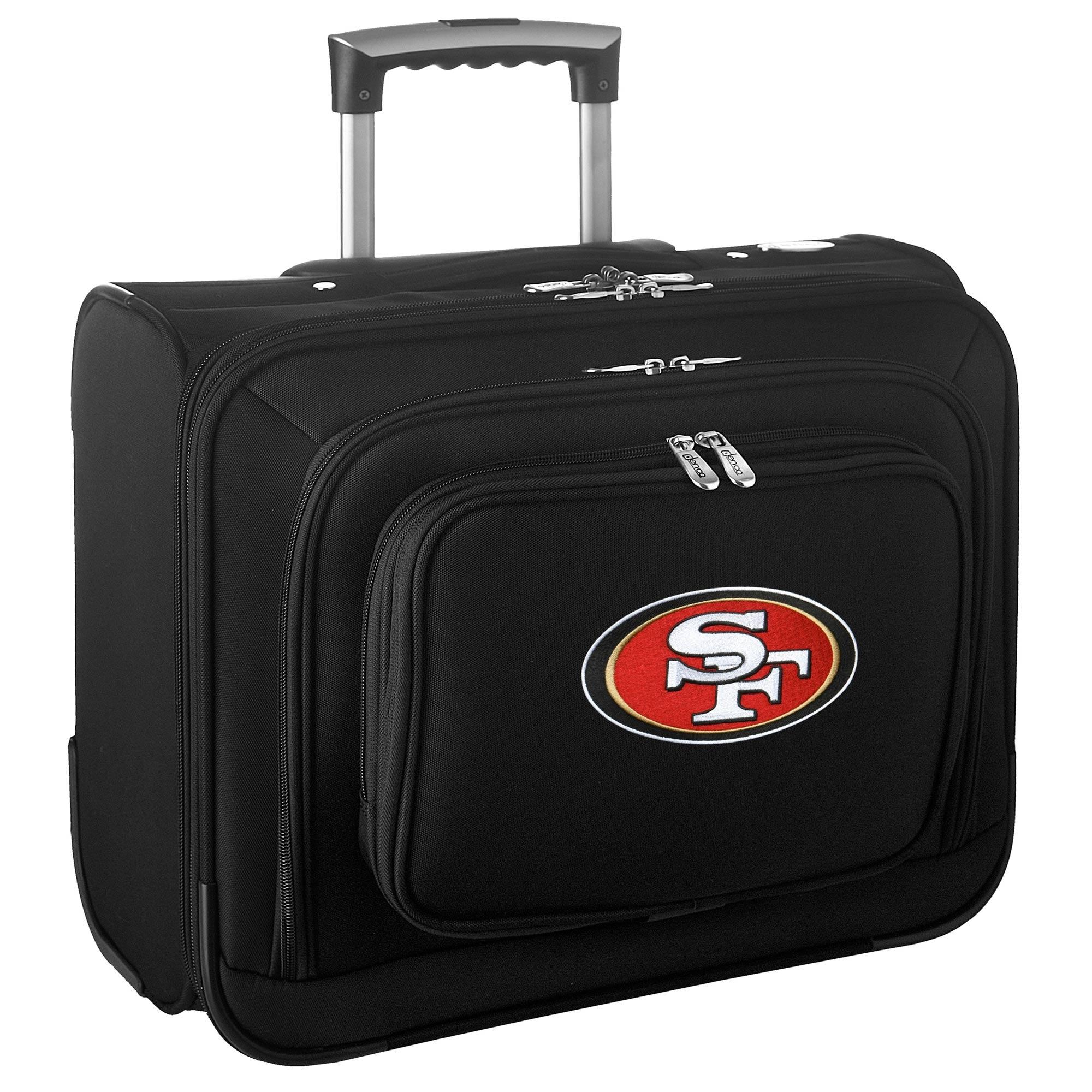 "San Francisco 49ers 14"" 2-Wheeled Laptop Overnighter Travel Case - Black"