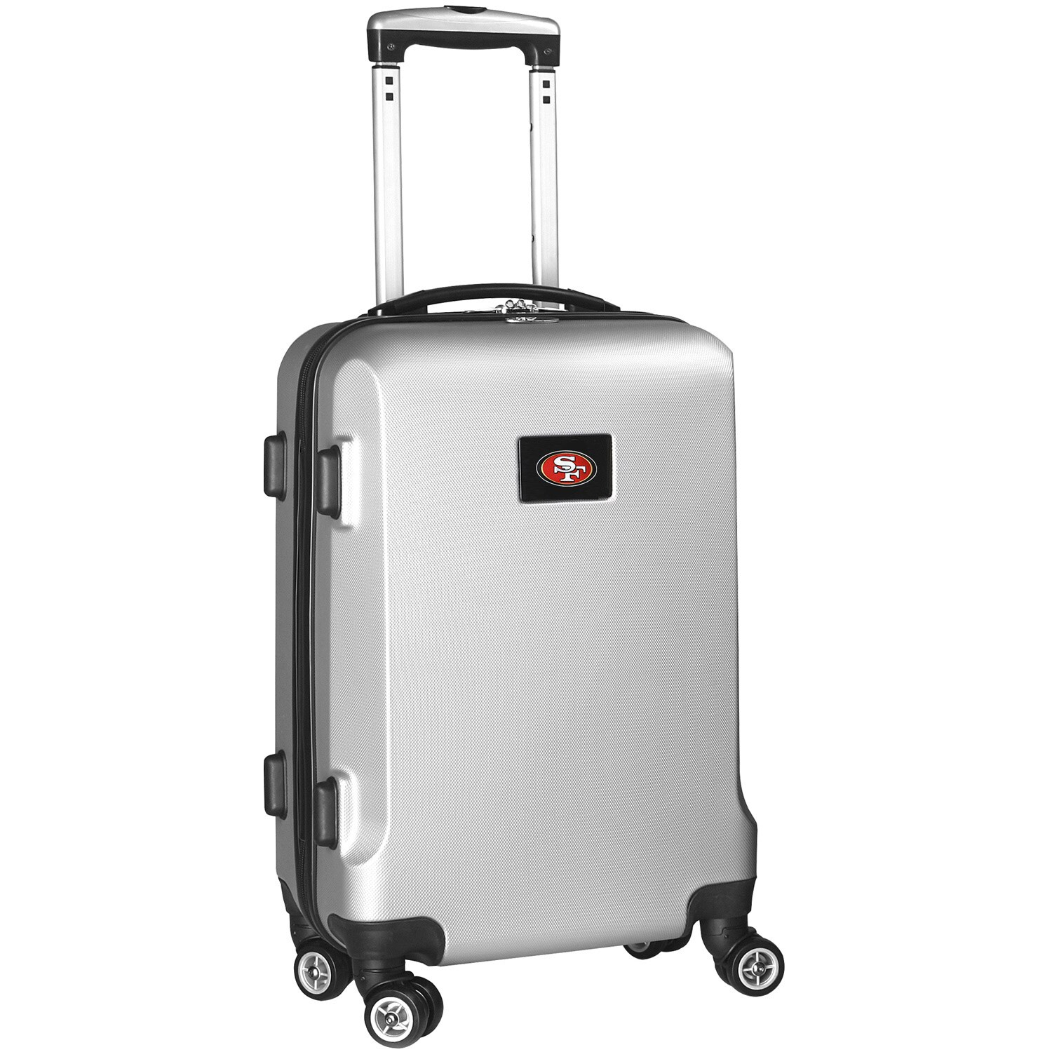 """San Francisco 49ers 20"""" 8-Wheel Hardcase Spinner Carry-On - Silver"""