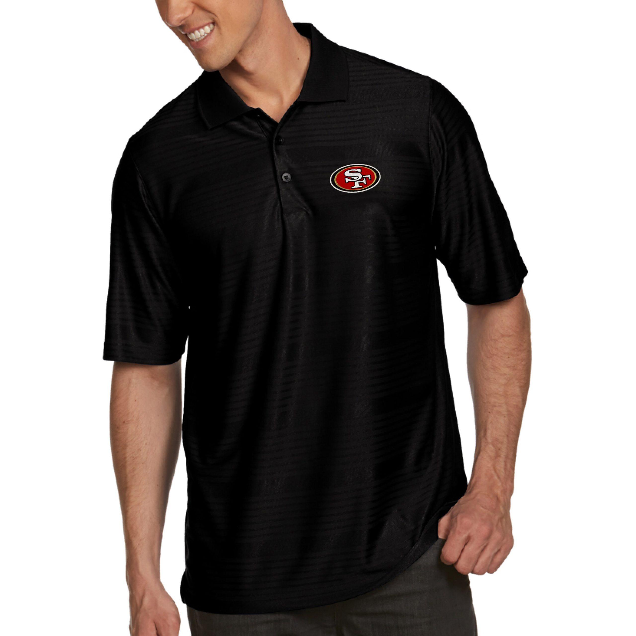 San Francisco 49ers Antigua Illusion Xtra-Lite Polo - Black