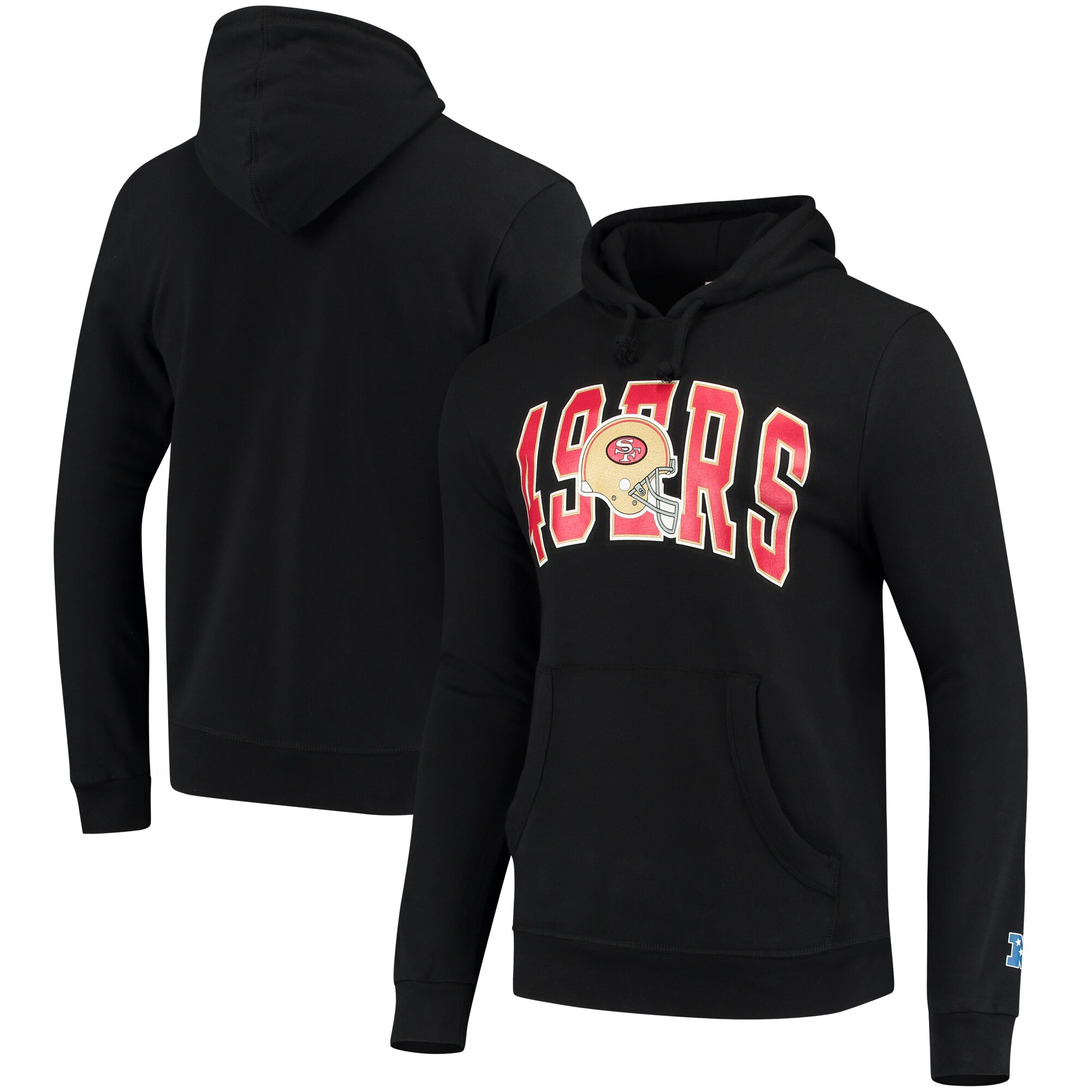 San Francisco 49ers Mitchell & Ness Play Clock Pullover Hoodie - Black