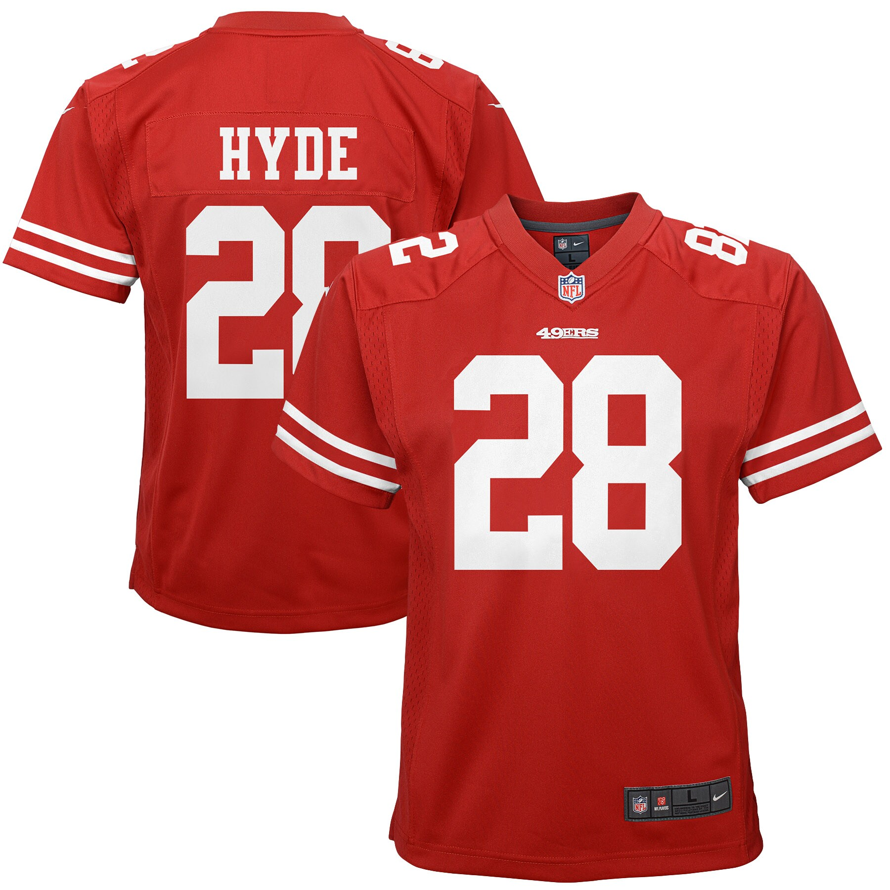 Carlos Hyde San Francisco 49ers Nike Youth Game Jersey - Scarlet