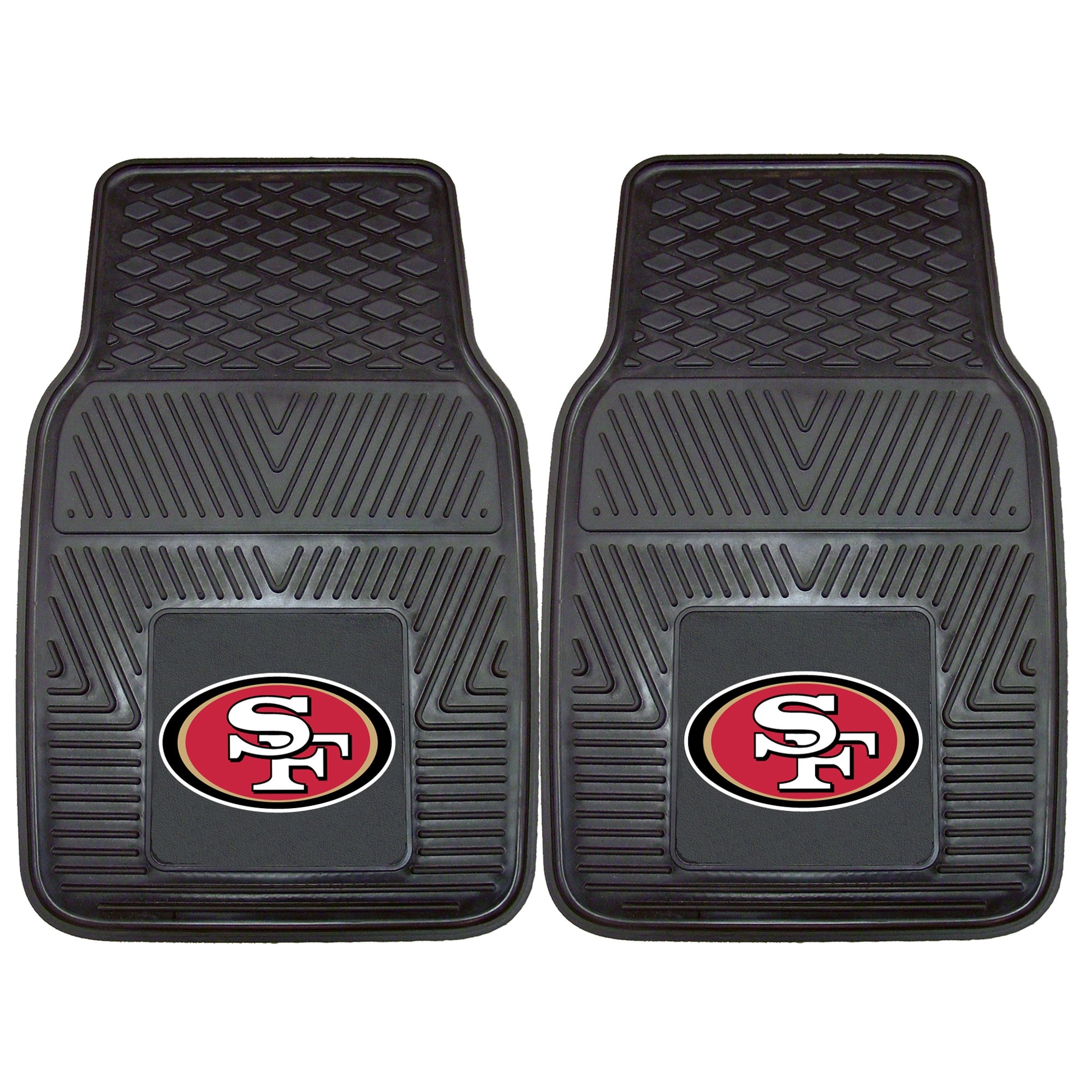 "San Francisco 49ers 27"" x 18"" 2-Pack Vinyl Car Mat Set"