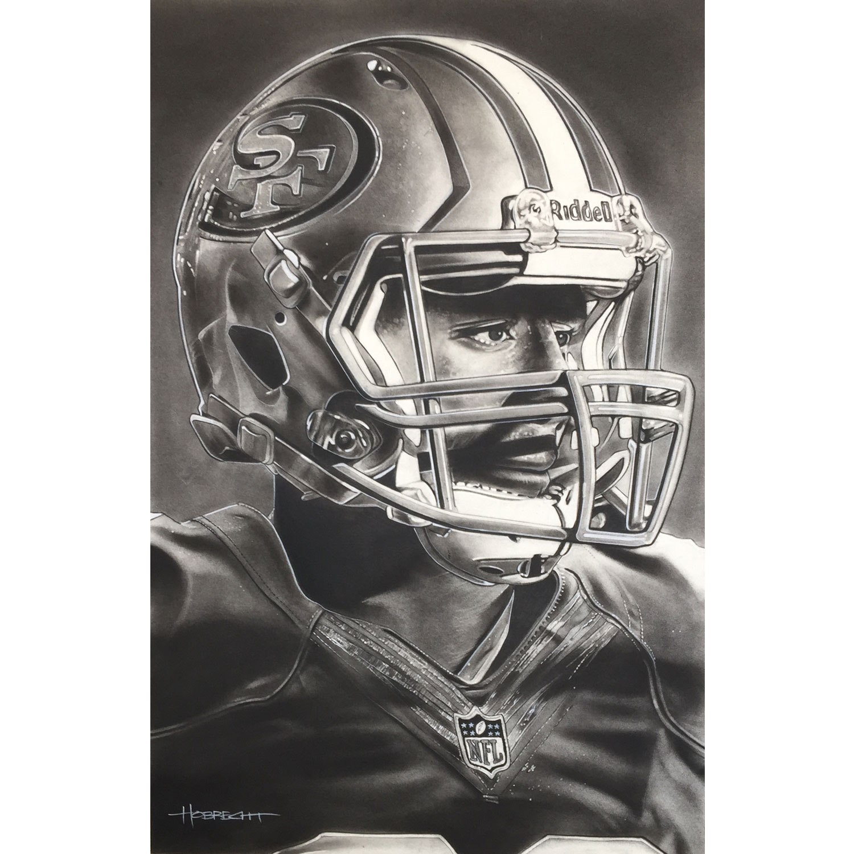 "San Francisco 49ers Deacon Jones Foundation 9"" x 14"" Helmet Series Fine Art Giclée Print"