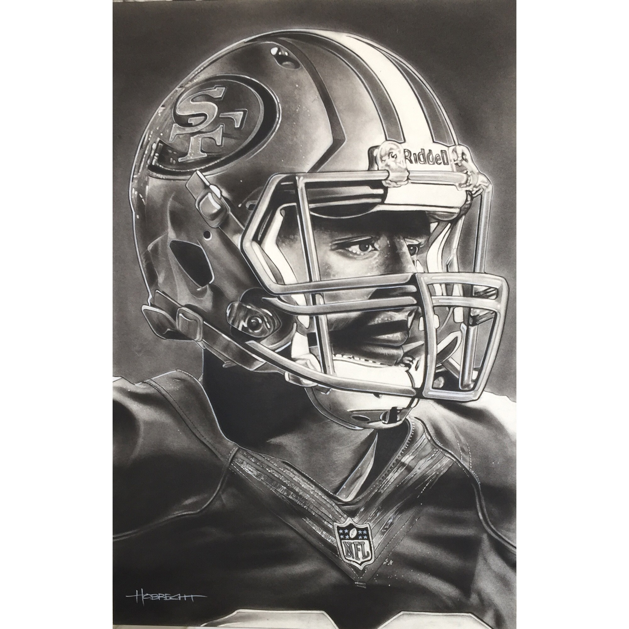 "San Francisco 49ers Deacon Jones Foundation 20"" x 30"" Helmet Series Fine Art Giclée Print"