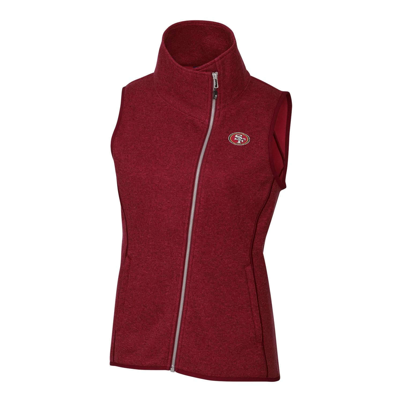 San Francisco 49ers Cutter & Buck Women's Mainsail Full-Zip Vest - Red