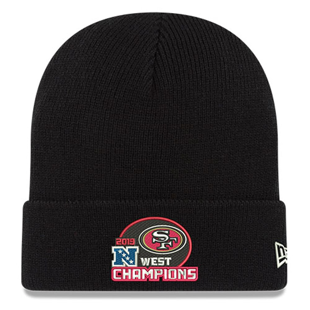 San Francisco 49ers New Era 2019 NFC West Division ChampionsCuffed Knit Hat - Black