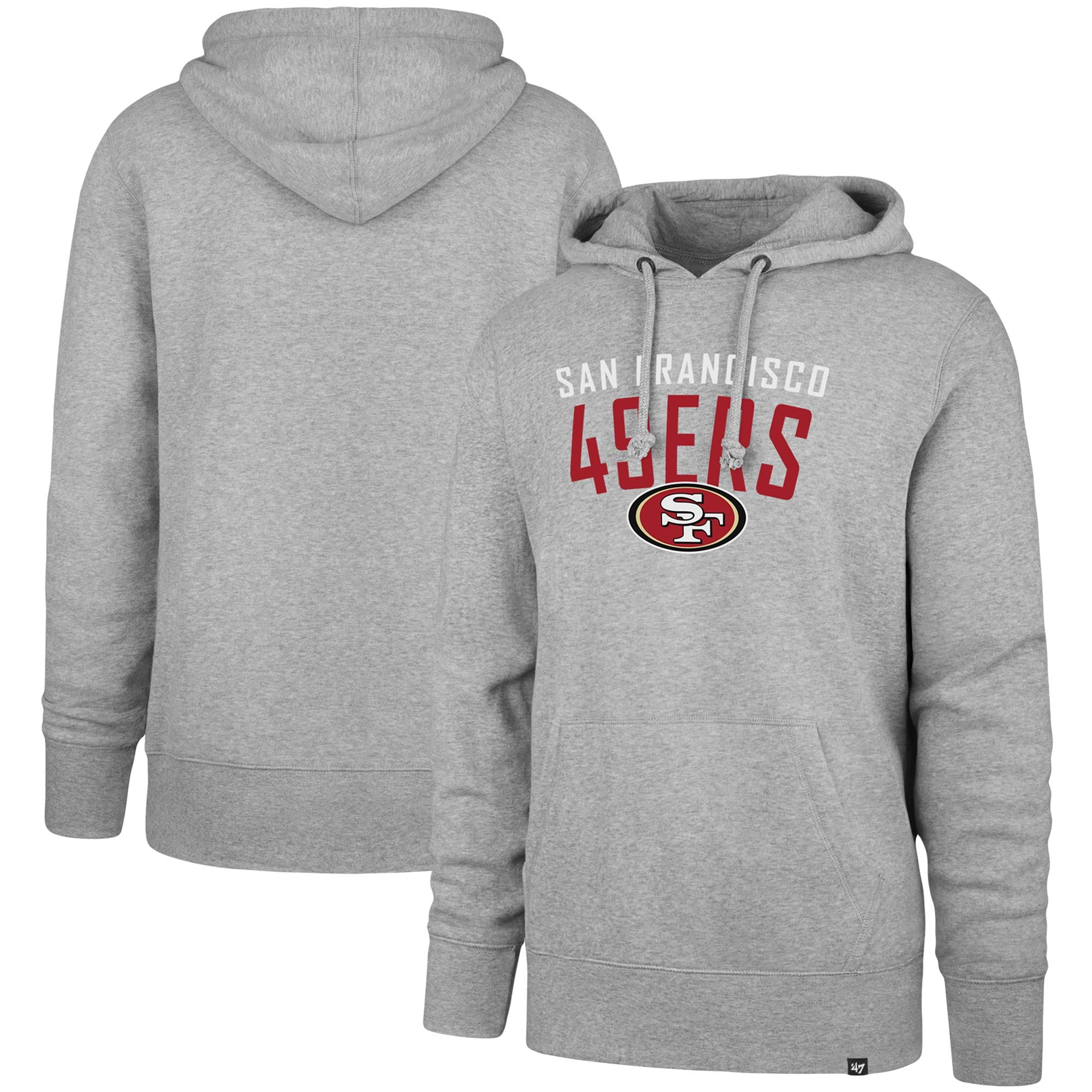 San Francisco 49ers '47 Outrush Headline Pullover Hoodie - Heathered Gray
