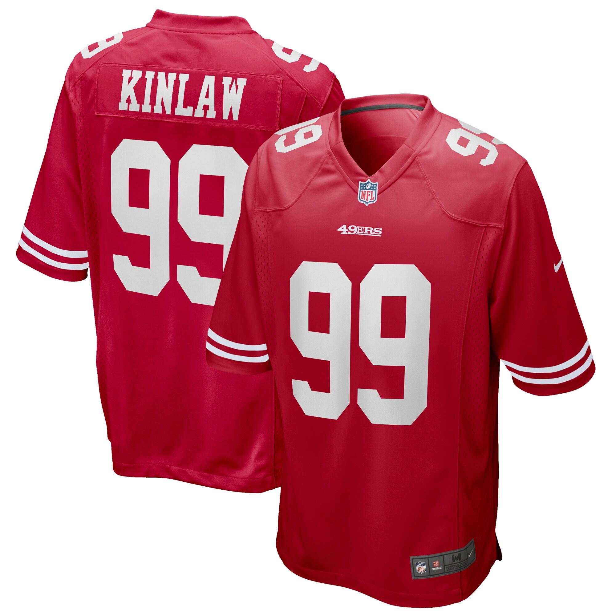 Javon Kinlaw San Francisco 49ers Nike 2020 NFL Draft First Round Pick Game Jersey - Scarlet