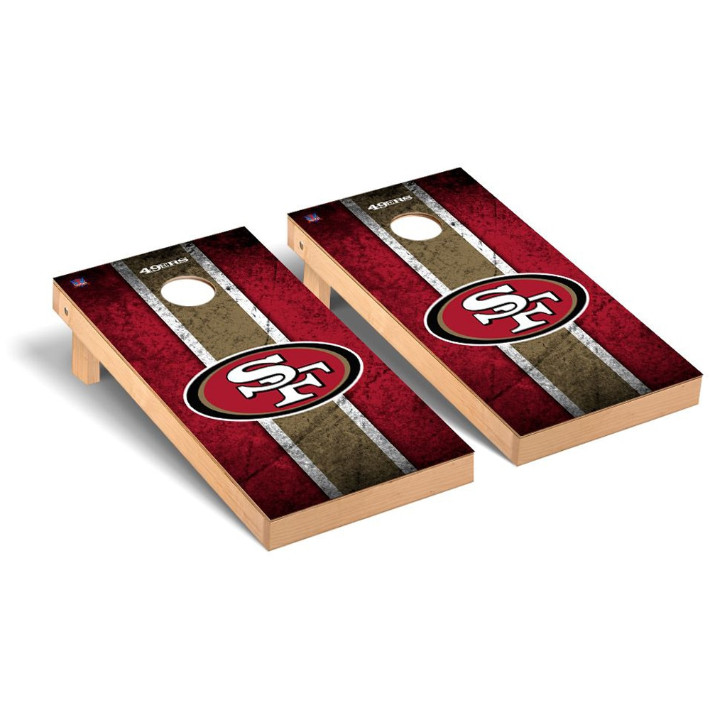 San Francisco 49ers 2' x 4' Vintage Regulation Cornhole Board Tailgate Toss Set