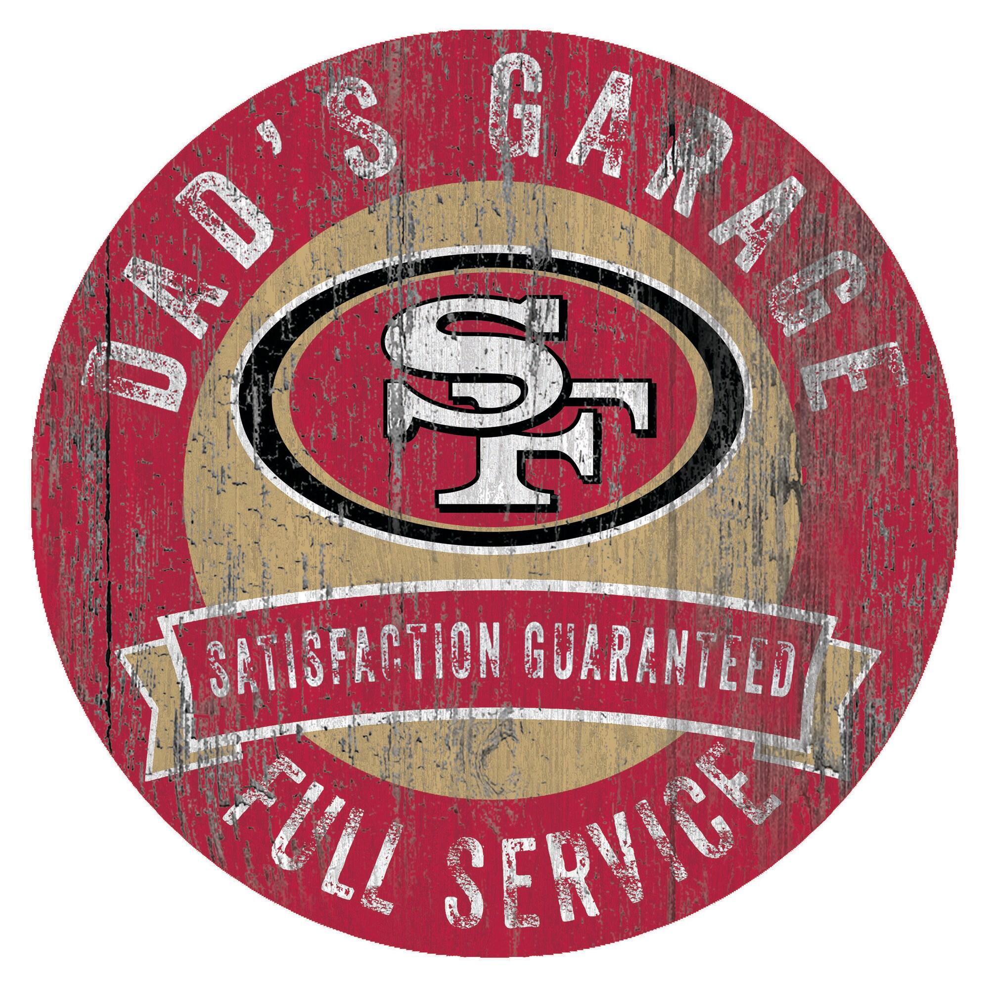 "San Francisco 49ers 12"" x 12"" Dad's Garage Sign"