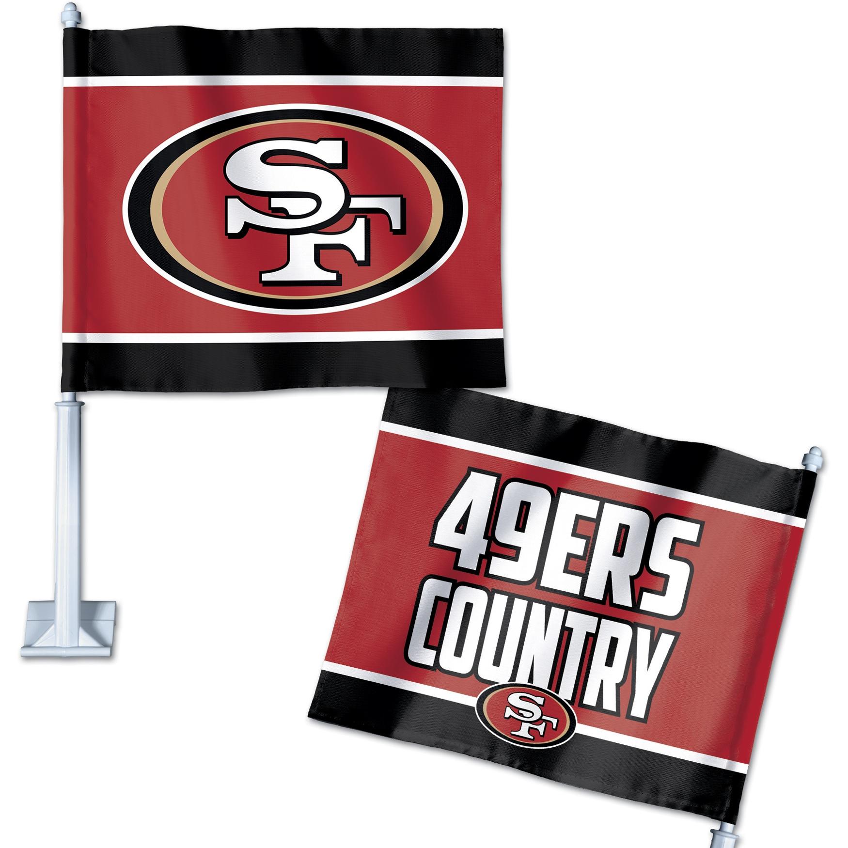 San Francisco 49ers WinCraft Double-Sided Slogan Car Flag