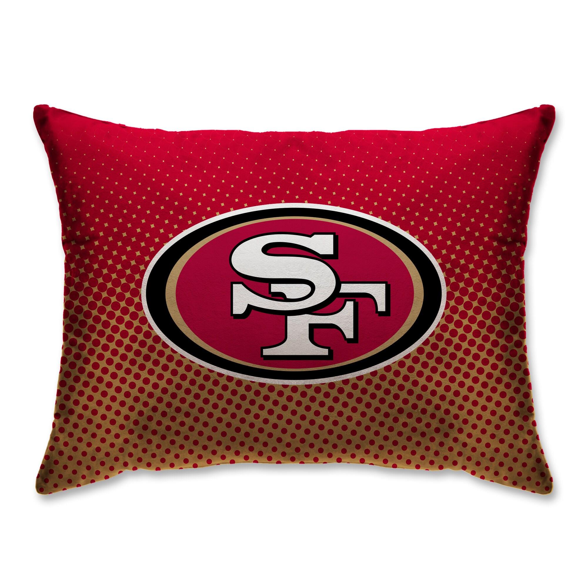 """San Francisco 49ers 20"""" x 26"""" Dot Decorative Bed Pillow"""