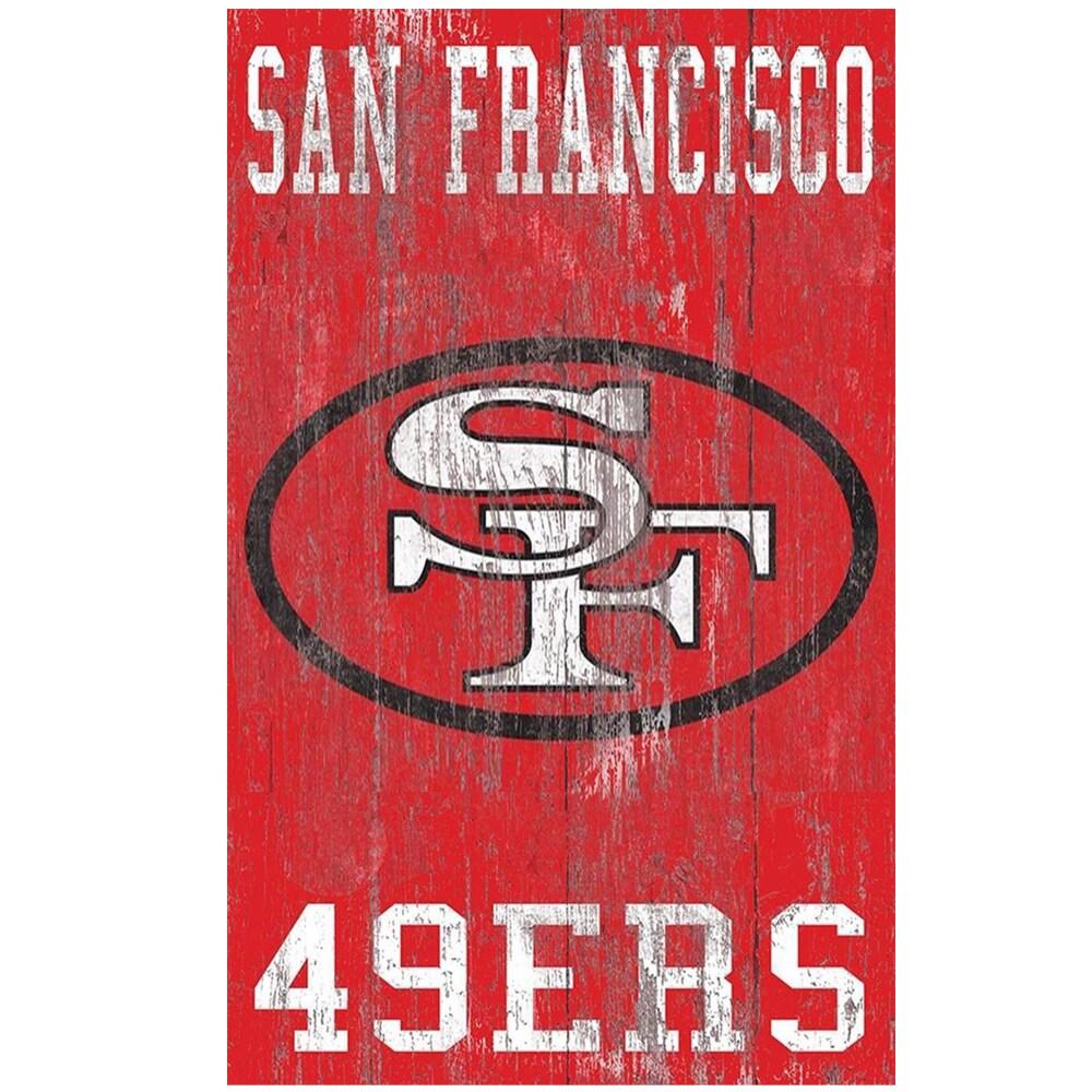 San Francisco 49ers 11'' x 19'' Heritage Distressed Logo Sign