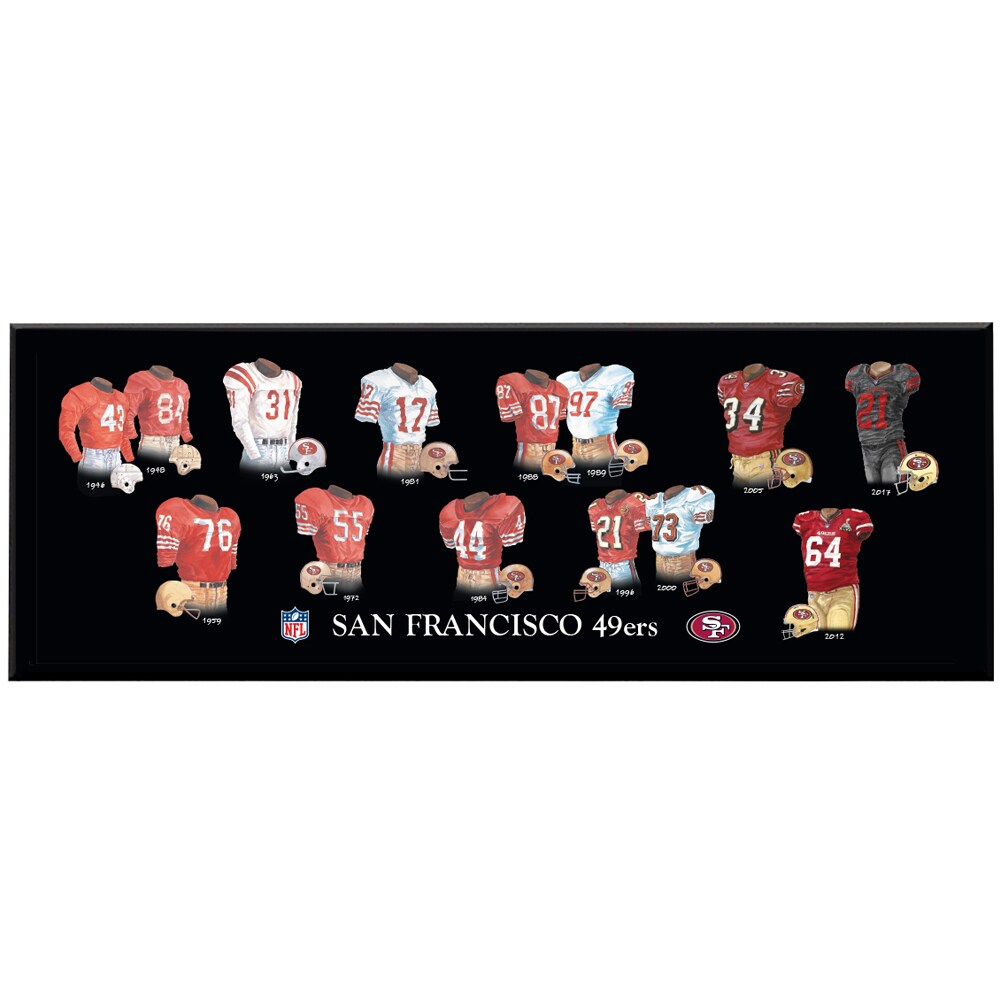 San Francisco 49ers 8'' x 24'' Uniform Evolution Plaque