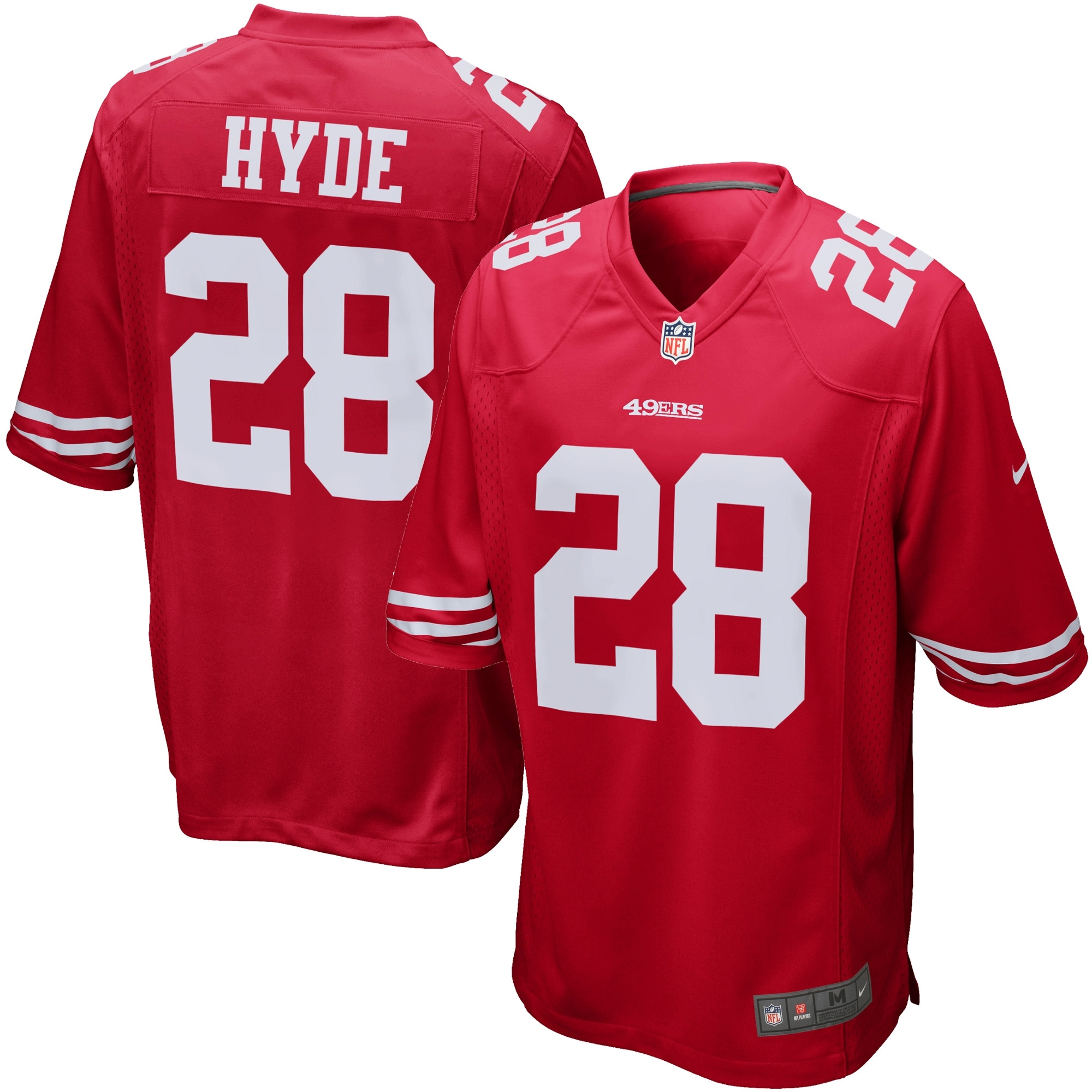 Carlos Hyde San Francisco 49ers Nike Game Jersey - Scarlet