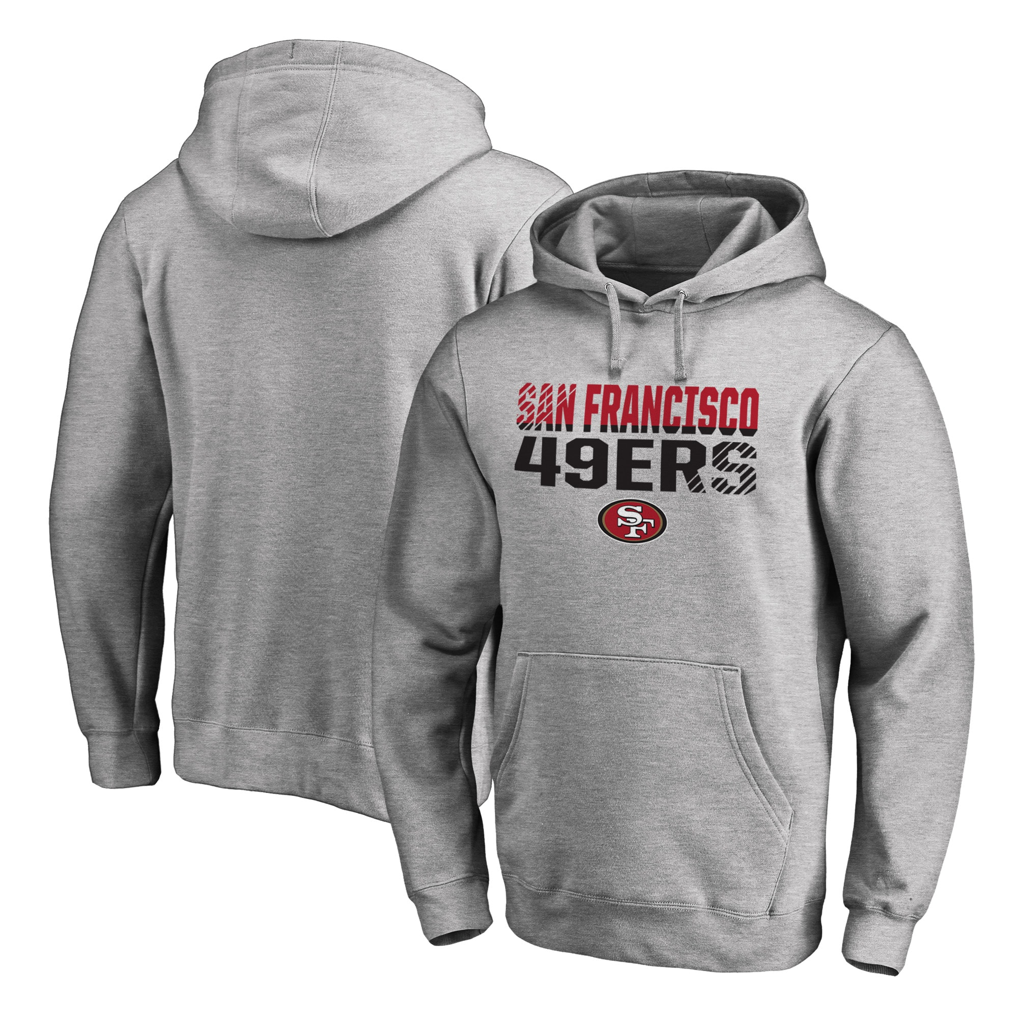 San Francisco 49ers NFL Pro Line by Fanatics Branded Iconic Collection Fade Out Pullover Hoodie - Ash