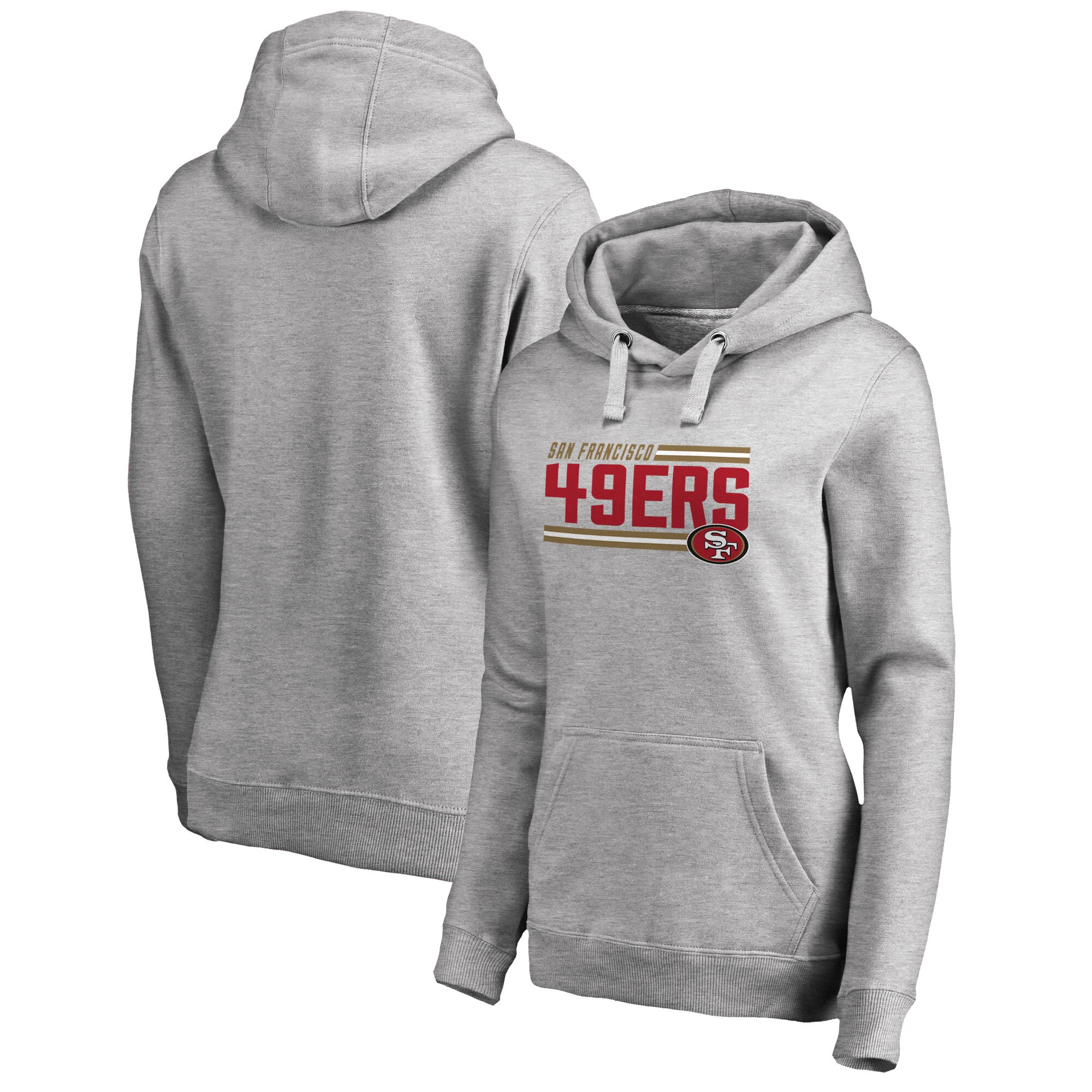 San Francisco 49ers NFL Pro Line by Fanatics Branded Women's Iconic Collection On Side Stripe Pullover Hoodie - Ash