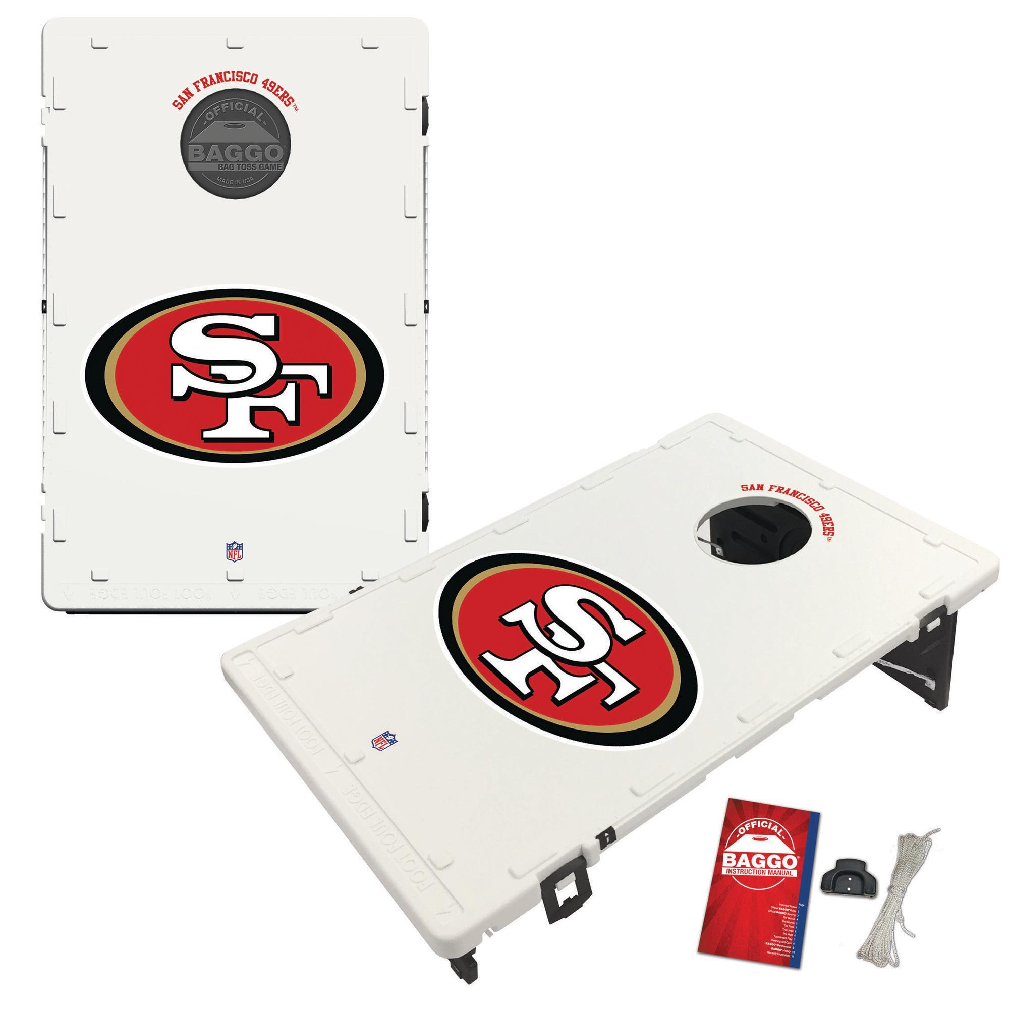 San Francisco 49ers 2' x 3' Classic Design BAGGO Cornhole Board Tailgate Toss Set