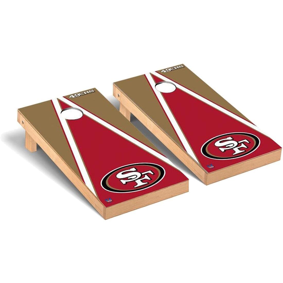 San Francisco 49ers 2' x 4' Triangle Cornhole Board Tailgate Toss Set