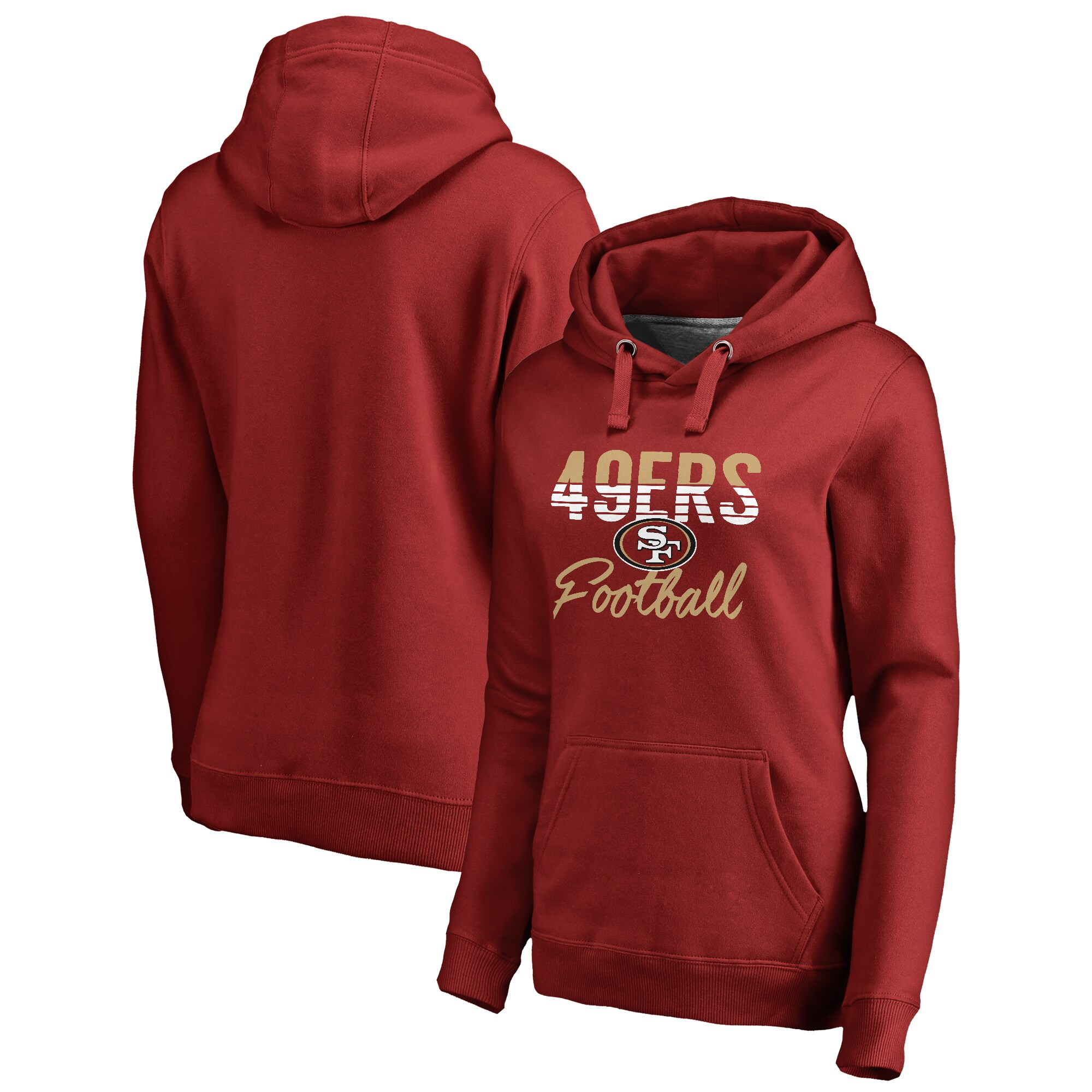 San Francisco 49ers NFL Pro Line by Fanatics Branded Women's Free Line Pullover Hoodie - Scarlet