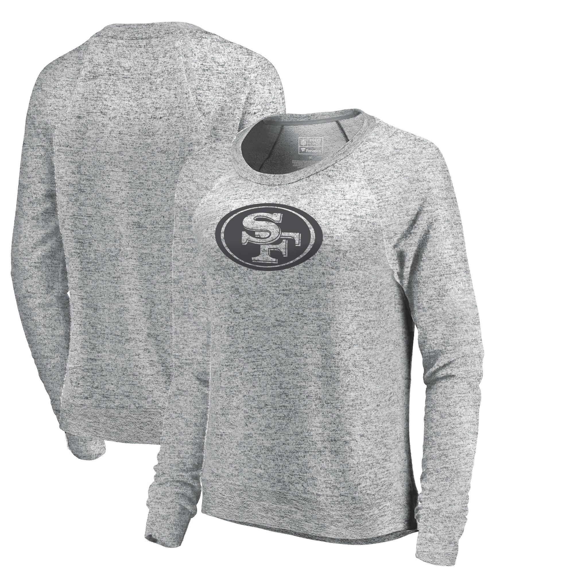 San Francisco 49ers NFL Pro Line by Fanatics Branded Women's Cozy Collection Plush Crew Sweatshirt - Ash