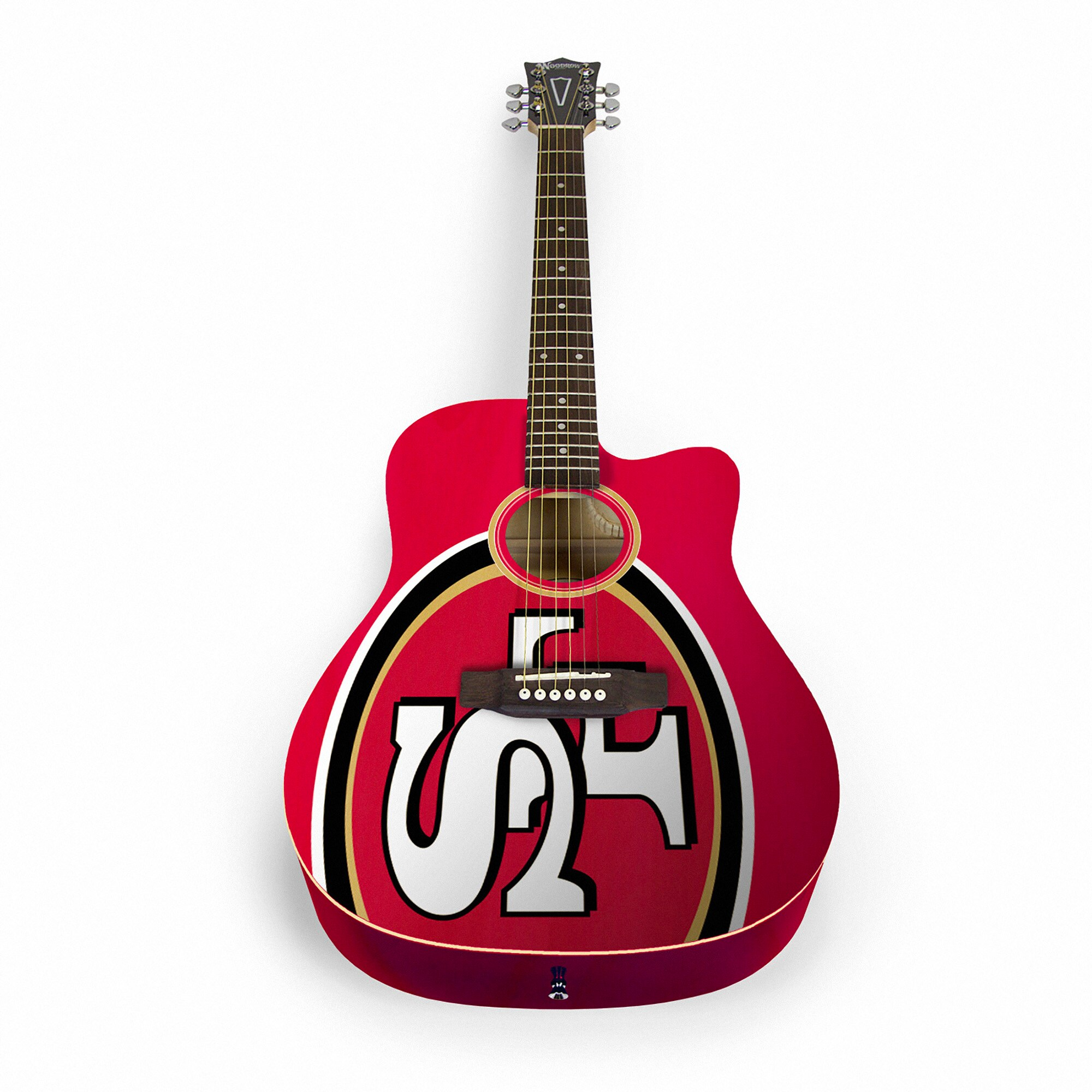 San Francisco 49ers Woodrow Acoustic Guitar