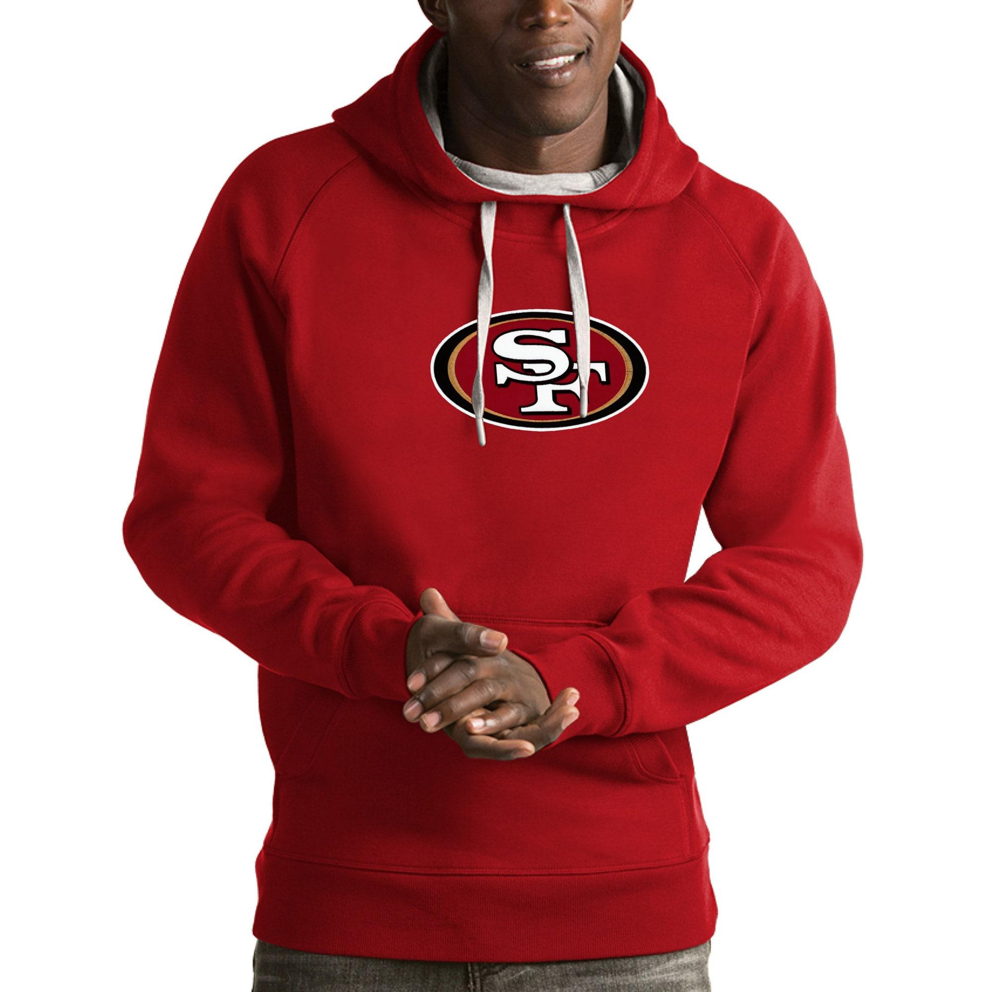 San Francisco 49ers Antigua Victory Pullover Hoodie - Scarlet