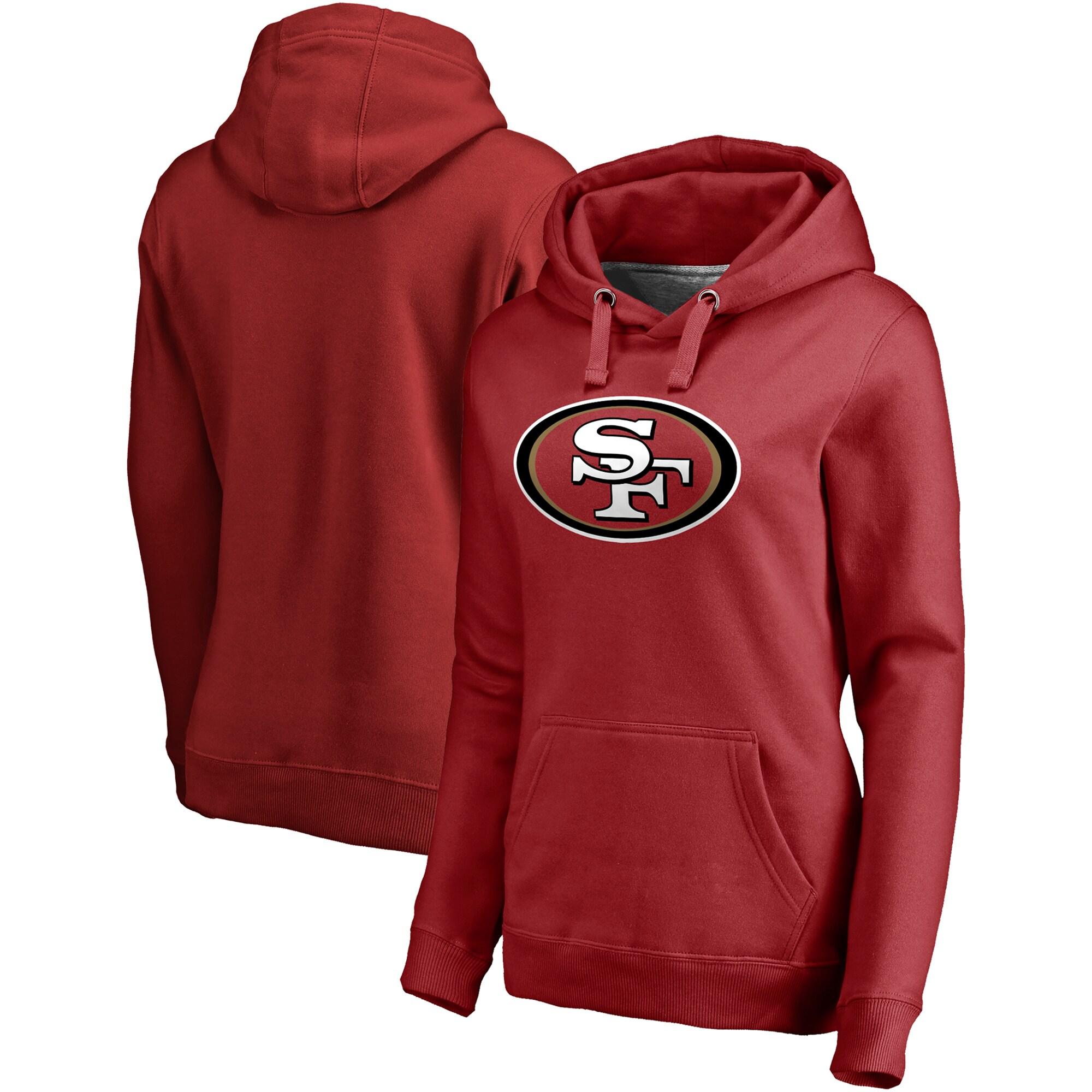 San Francisco 49ers NFL Pro Line Women's Primary Team Logo Pullover Hoodie - Scarlet