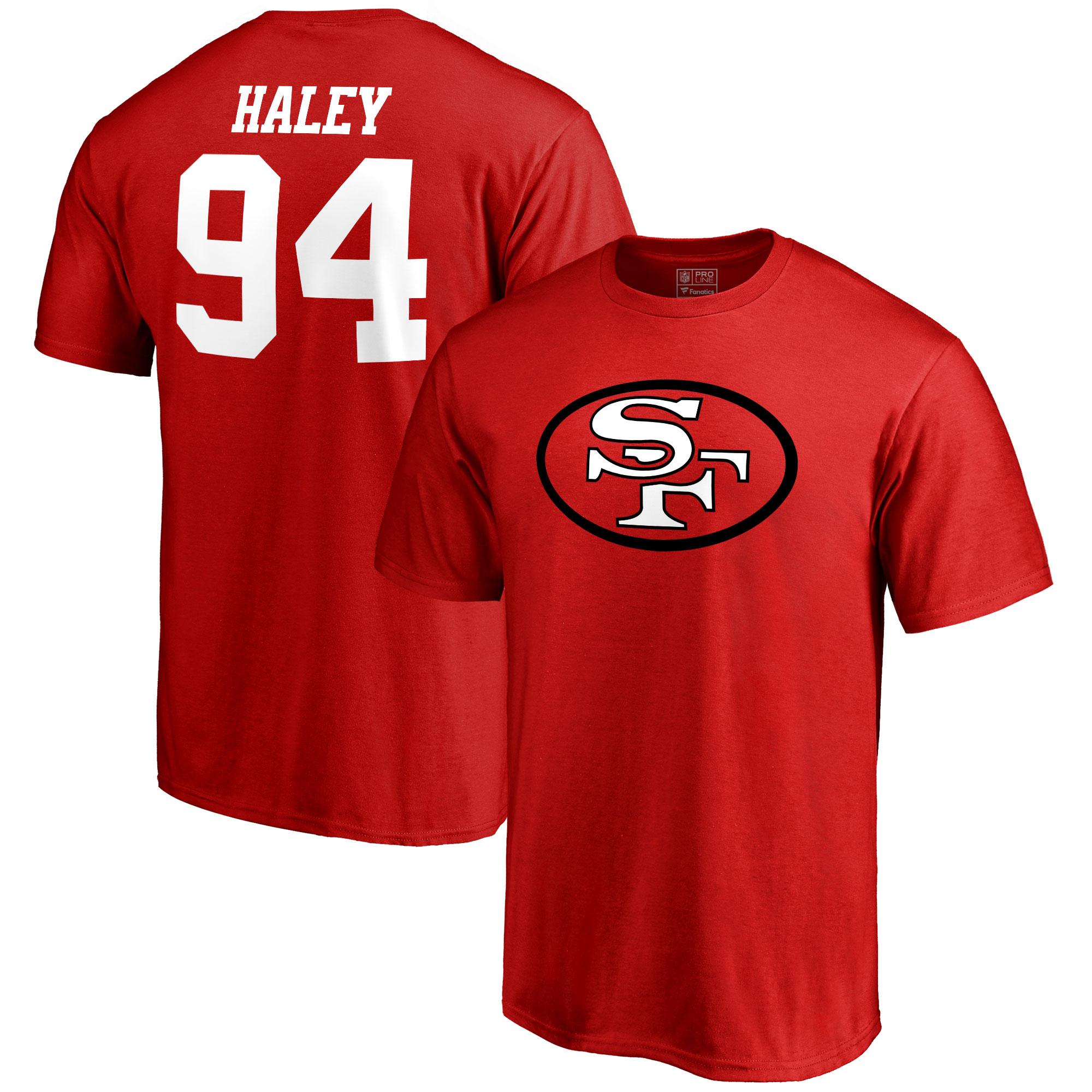 Charles Haley San Francisco 49ers NFL Pro Line Retired Player Name & Number T-Shirt - Scarlet
