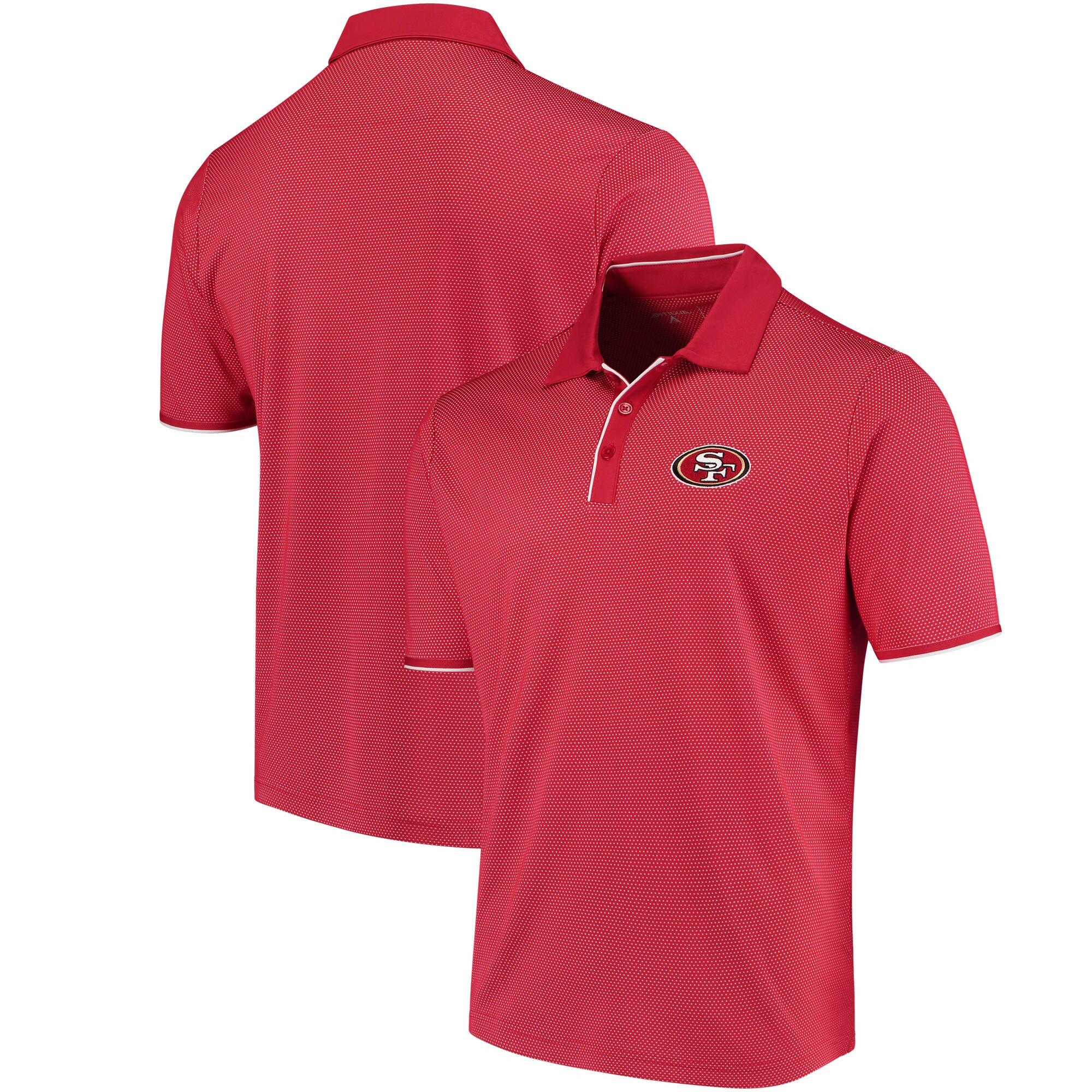 San Francisco 49ers Antigua Draft Polo - Scarlet/White