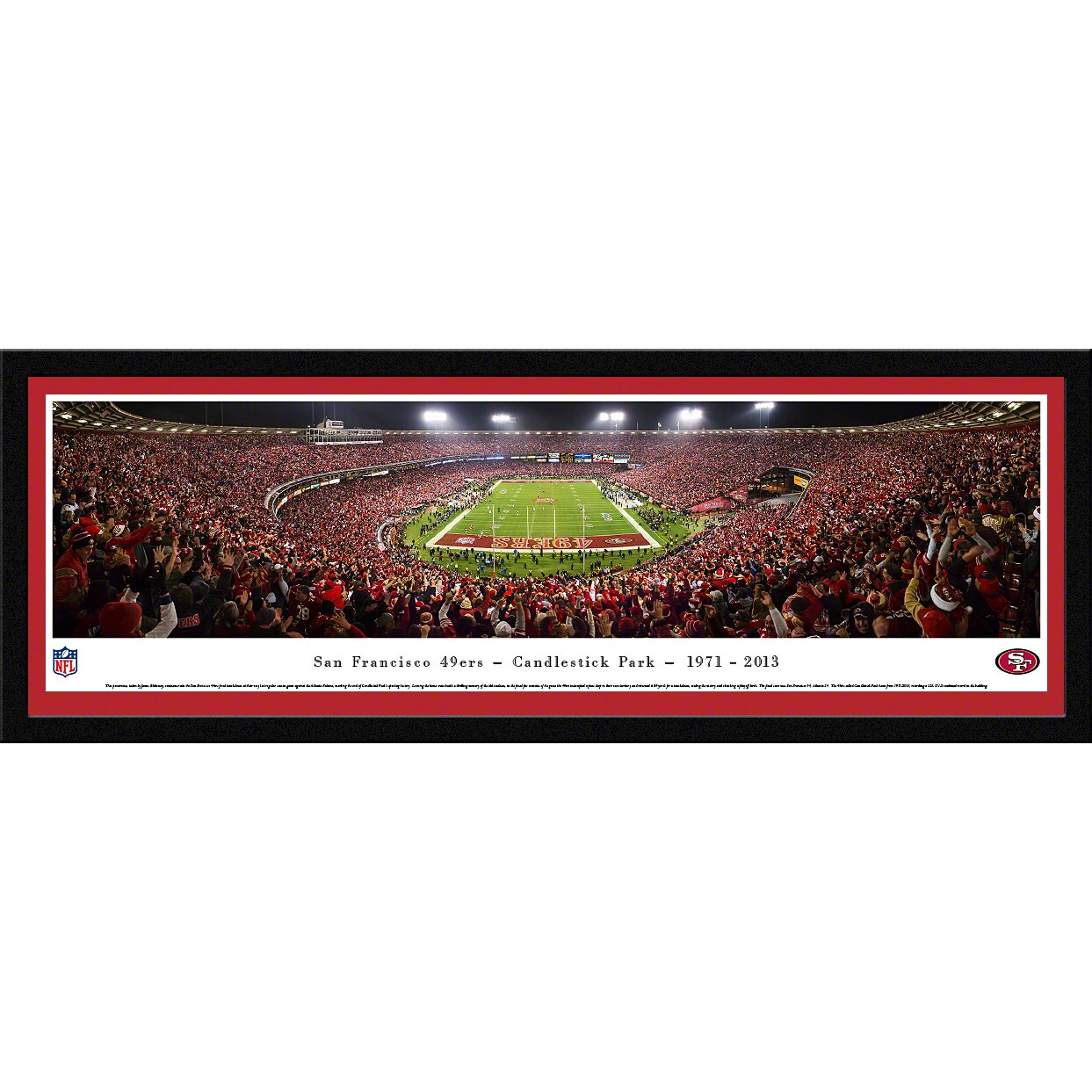 "San Francisco 49ers 16"" x 42"" Candlestick Park Select Frame Panoramic Photo"