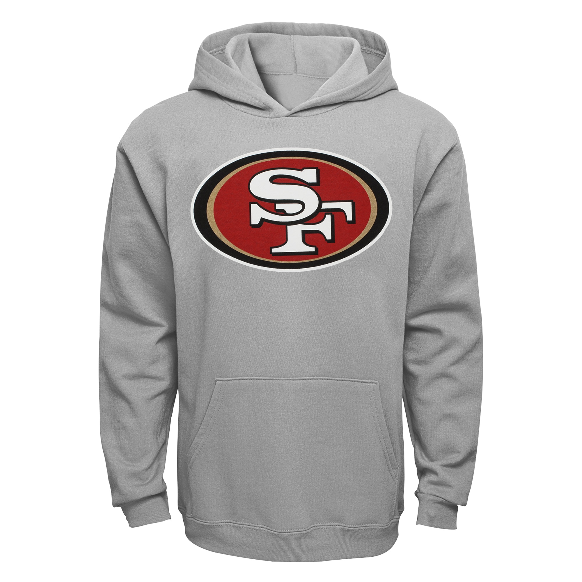 San Francisco 49ers Youth Current Logo Pullover Hoodie - Gray