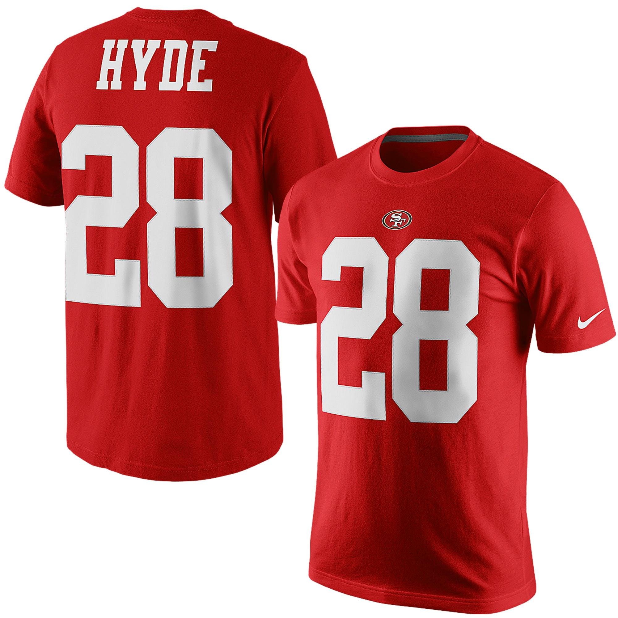 Carlos Hyde San Francisco 49ers Nike Player Pride Name & Number T-Shirt - Scarlet