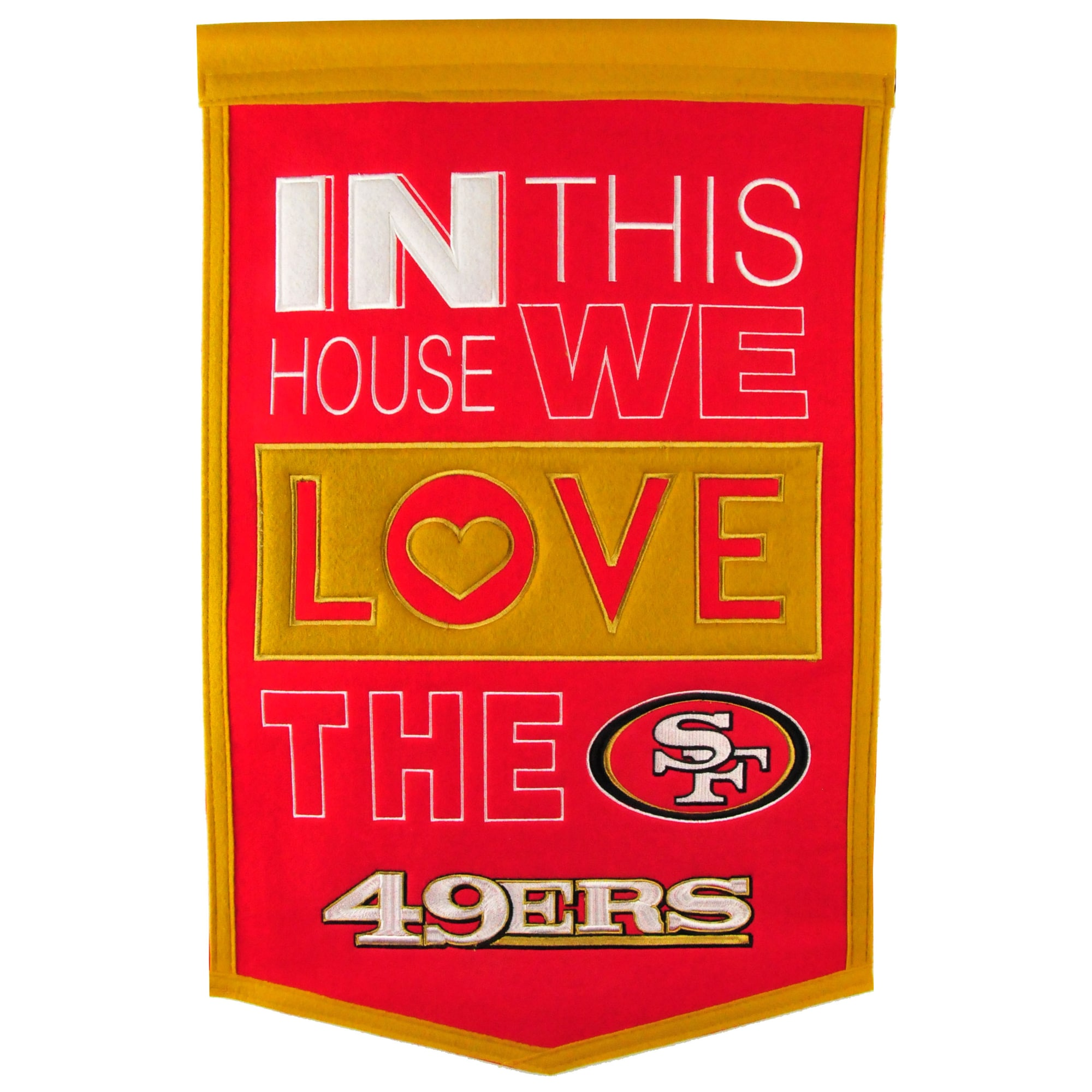 San Francisco 49ers 15'' x 24'' Home Banner