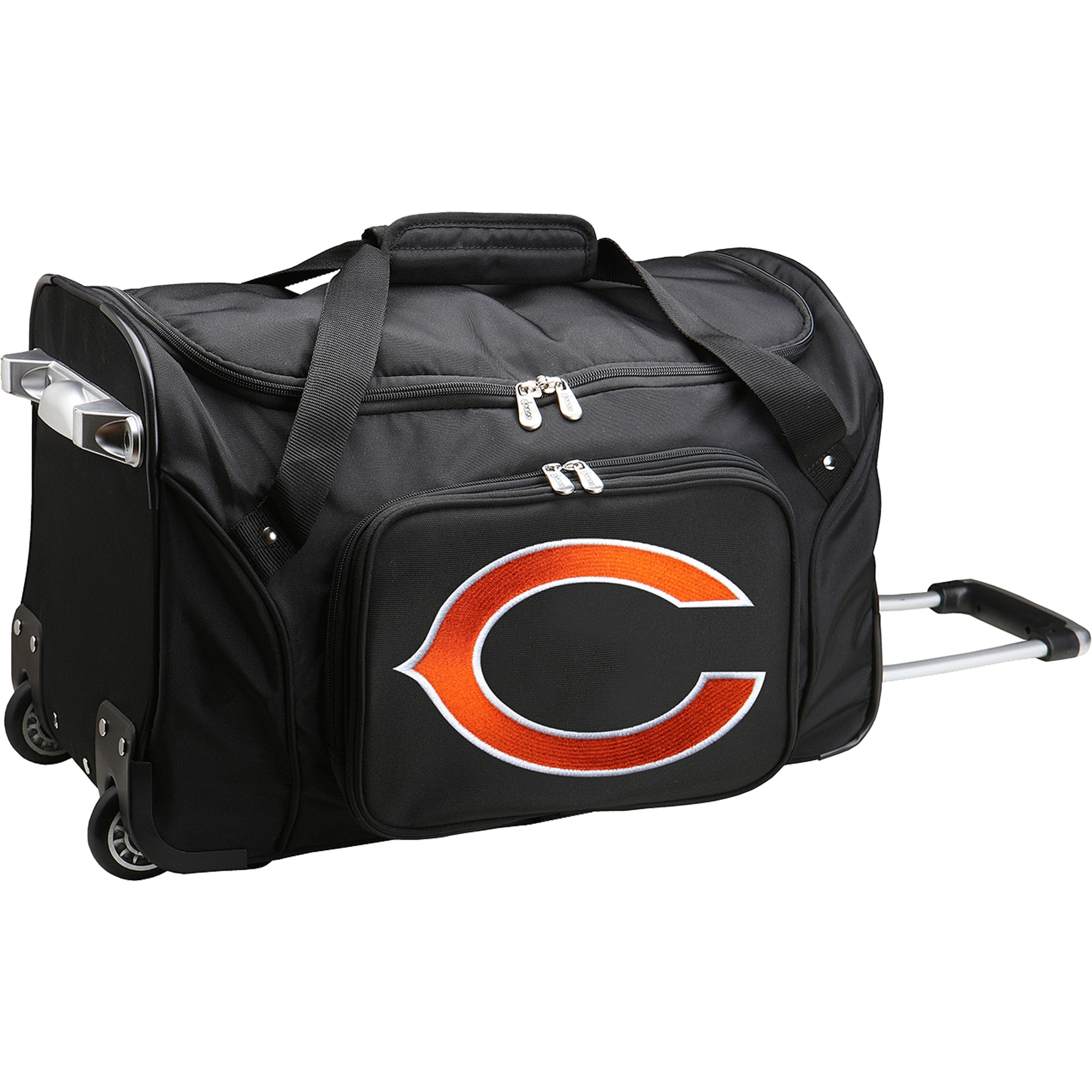"Chicago Bears 22"" 2-Wheeled Duffel Bag - Black"