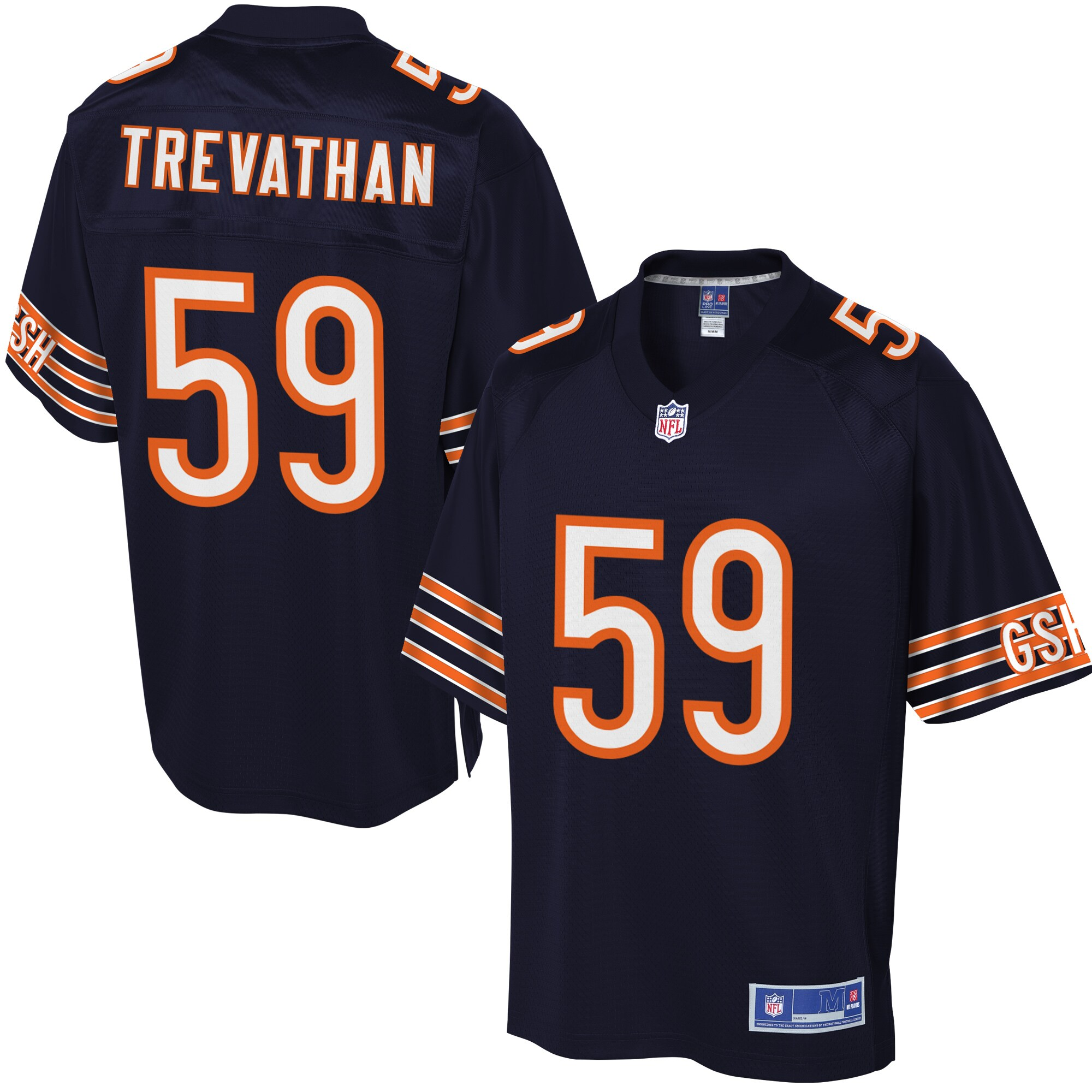 Men's Chicago Bears Danny Trevathan NFL Pro Line Navy Team Color Jersey