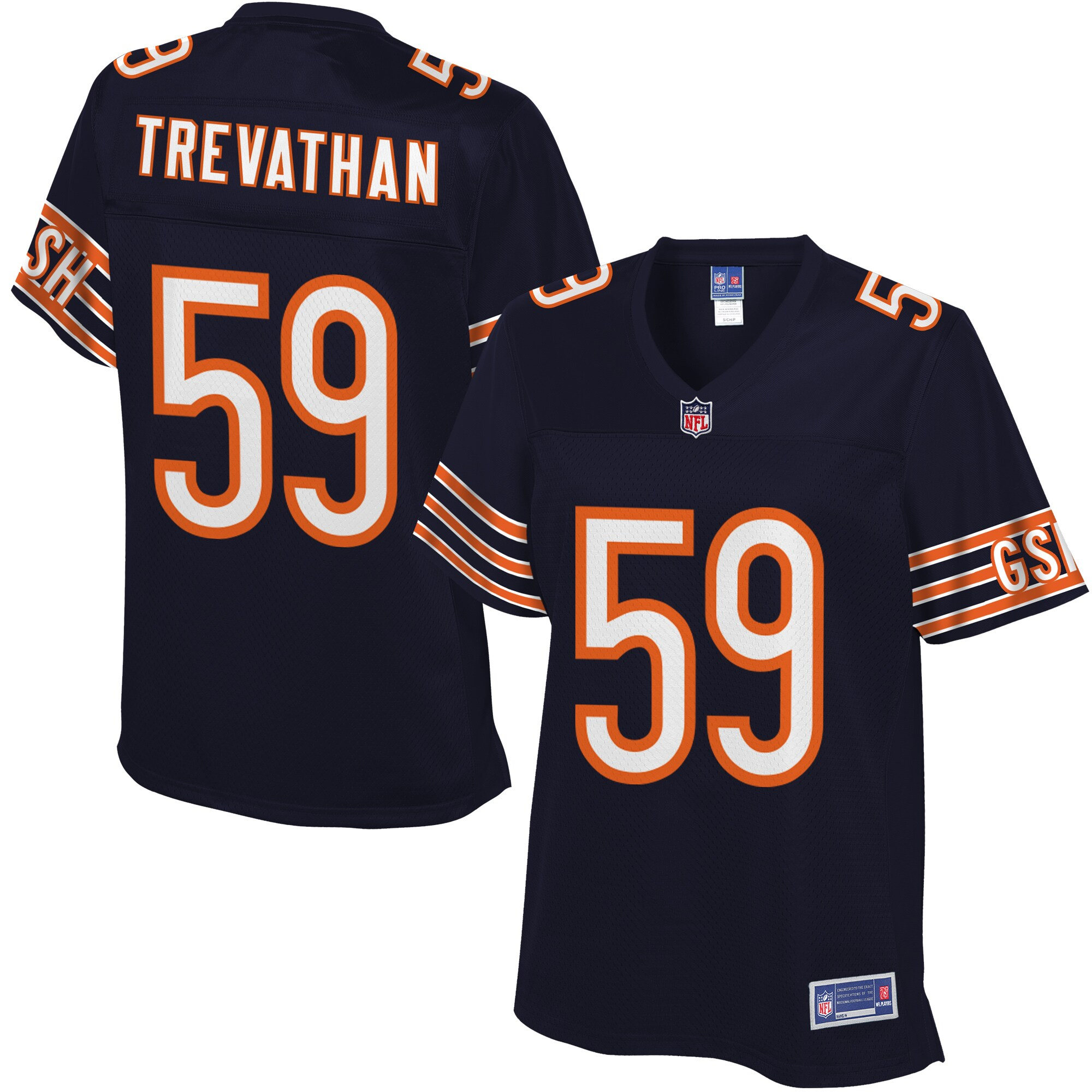 Women's Chicago Bears Danny Trevathan NFL Pro Line Navy Team Color Jersey