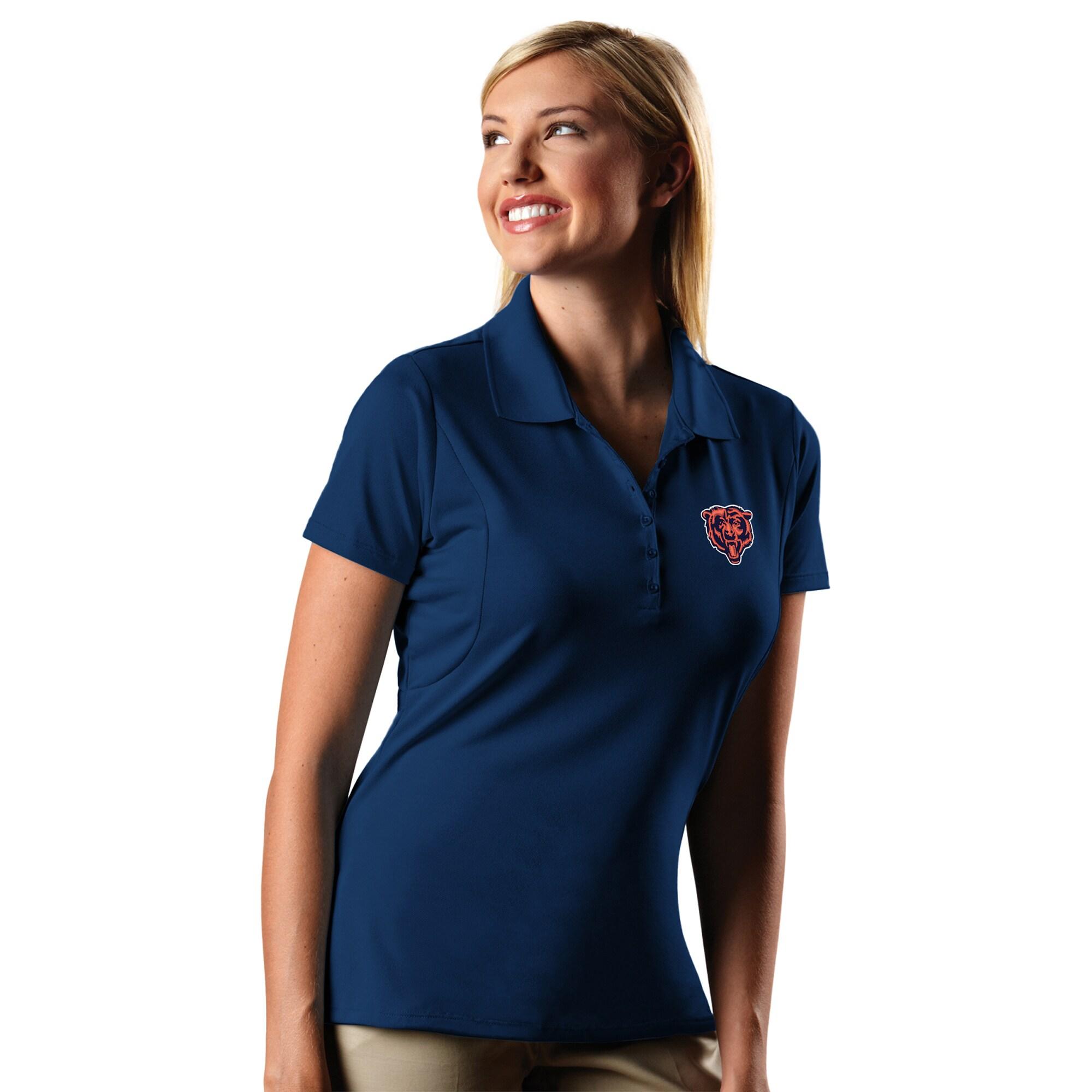 Chicago Bears Antigua Women's Pique Xtra-Lite Polo - Navy