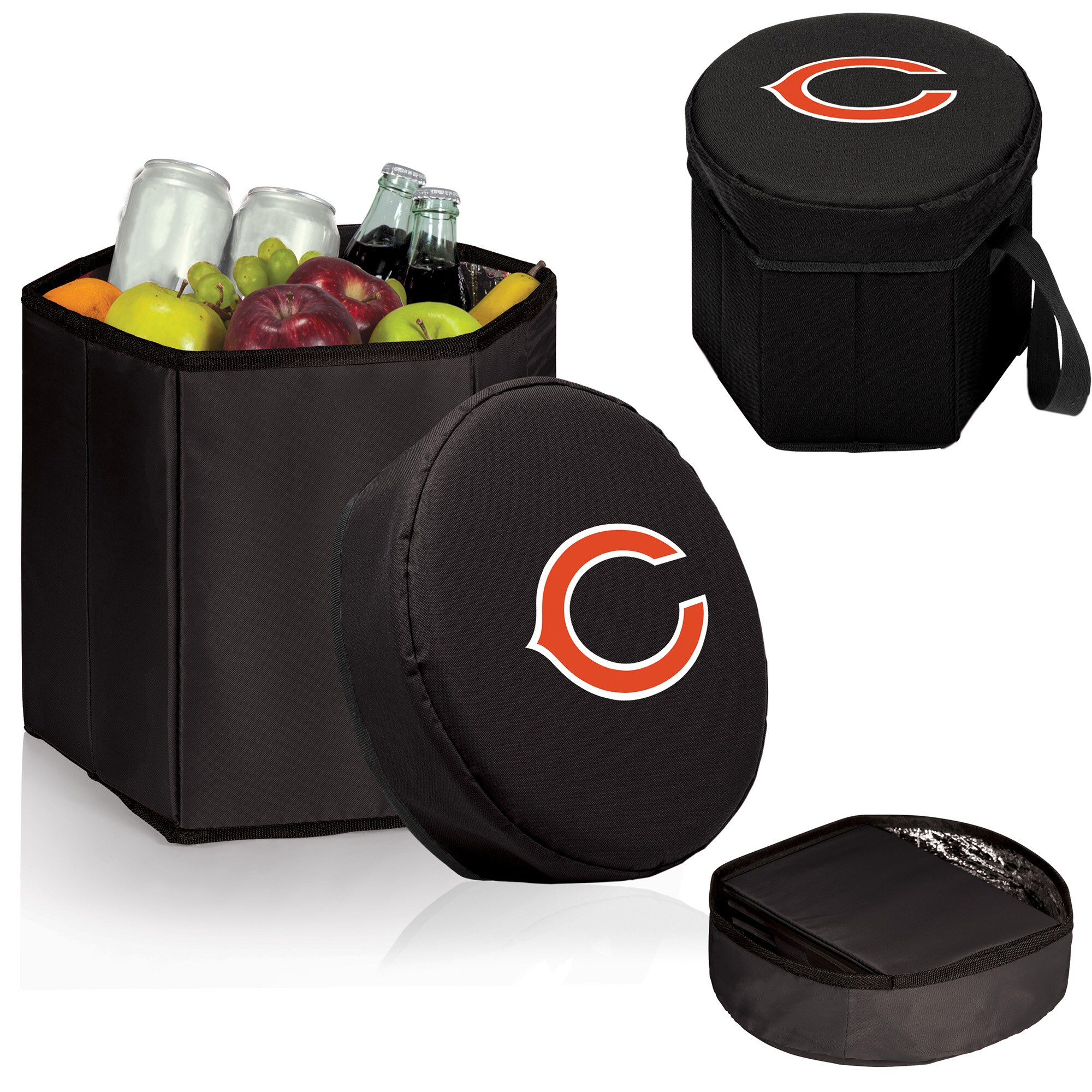 Chicago Bears 12 Quart Bongo Cooler - Black