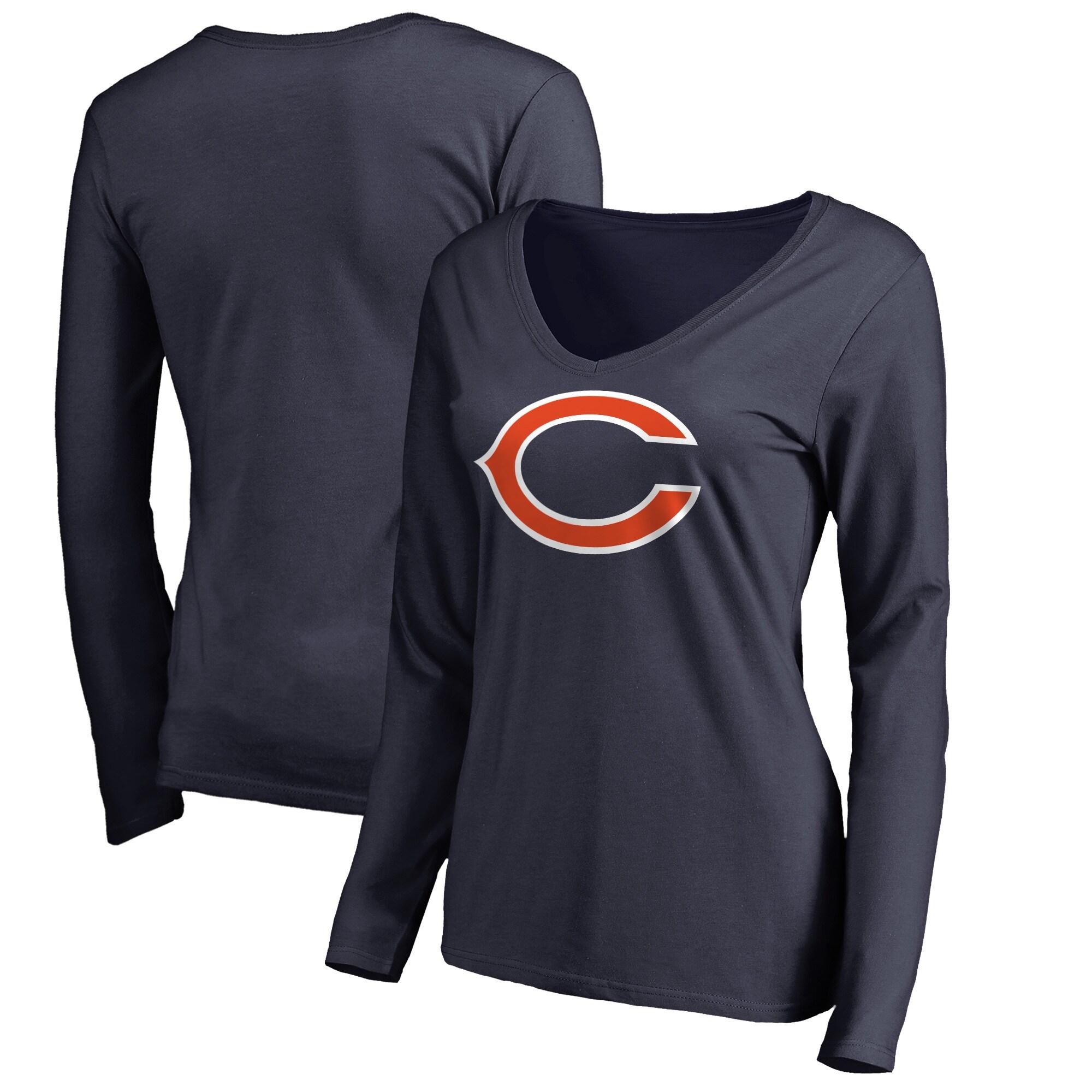 Chicago Bears NFL Pro Line Women's Primary Logo Long Sleeve T-Shirt - Navy