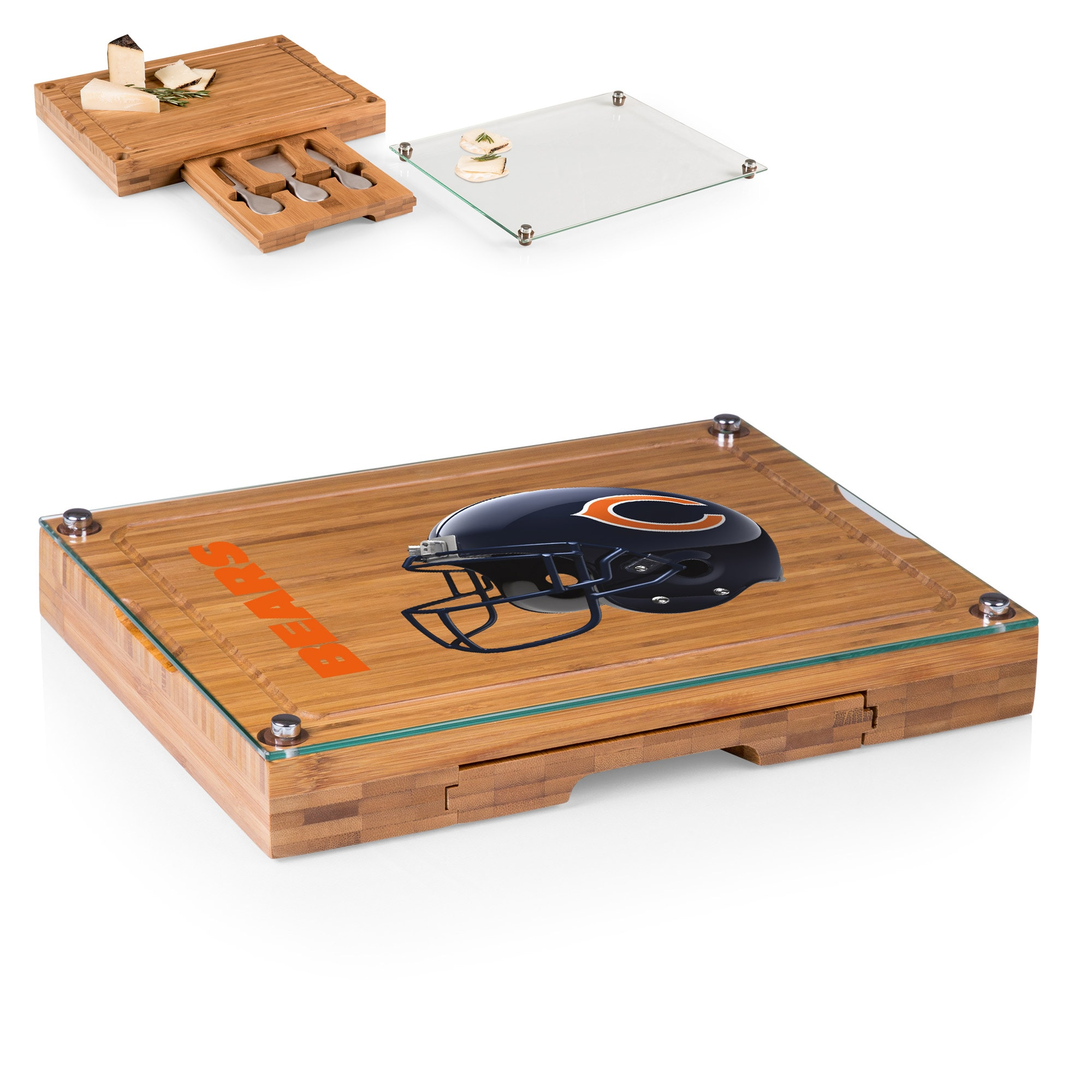 Chicago Bears Concerto Cheese Board with Serving Stage and Tools