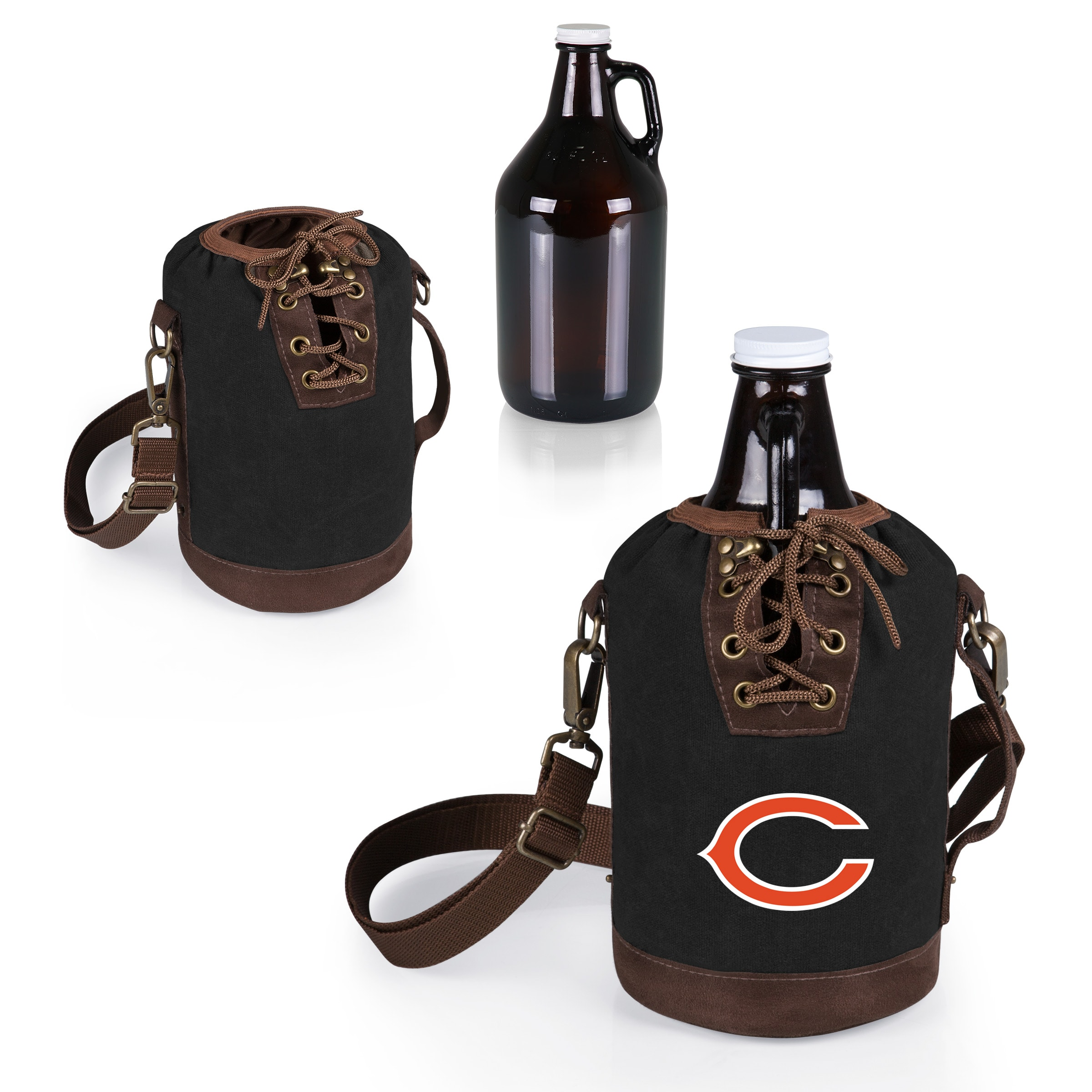 Chicago Bears Growler Tote with 64oz. Growler - Black