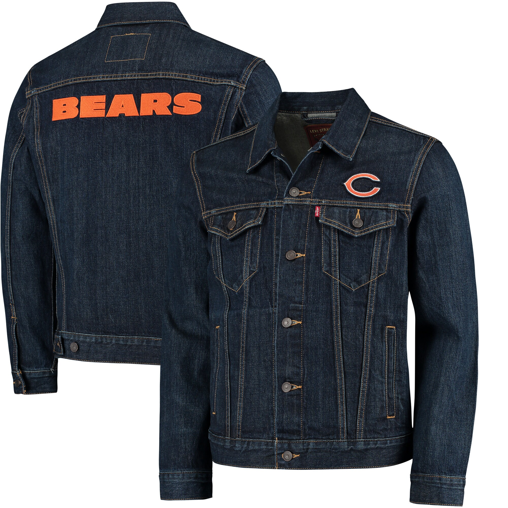 Chicago Bears Levi's Sports Denim Trucker Jacket - Blue