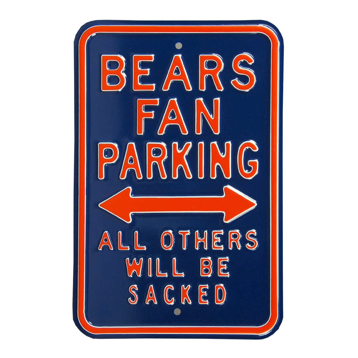 "Chicago Bears 12"" x 18"" Steel Parking Sign - Navy"