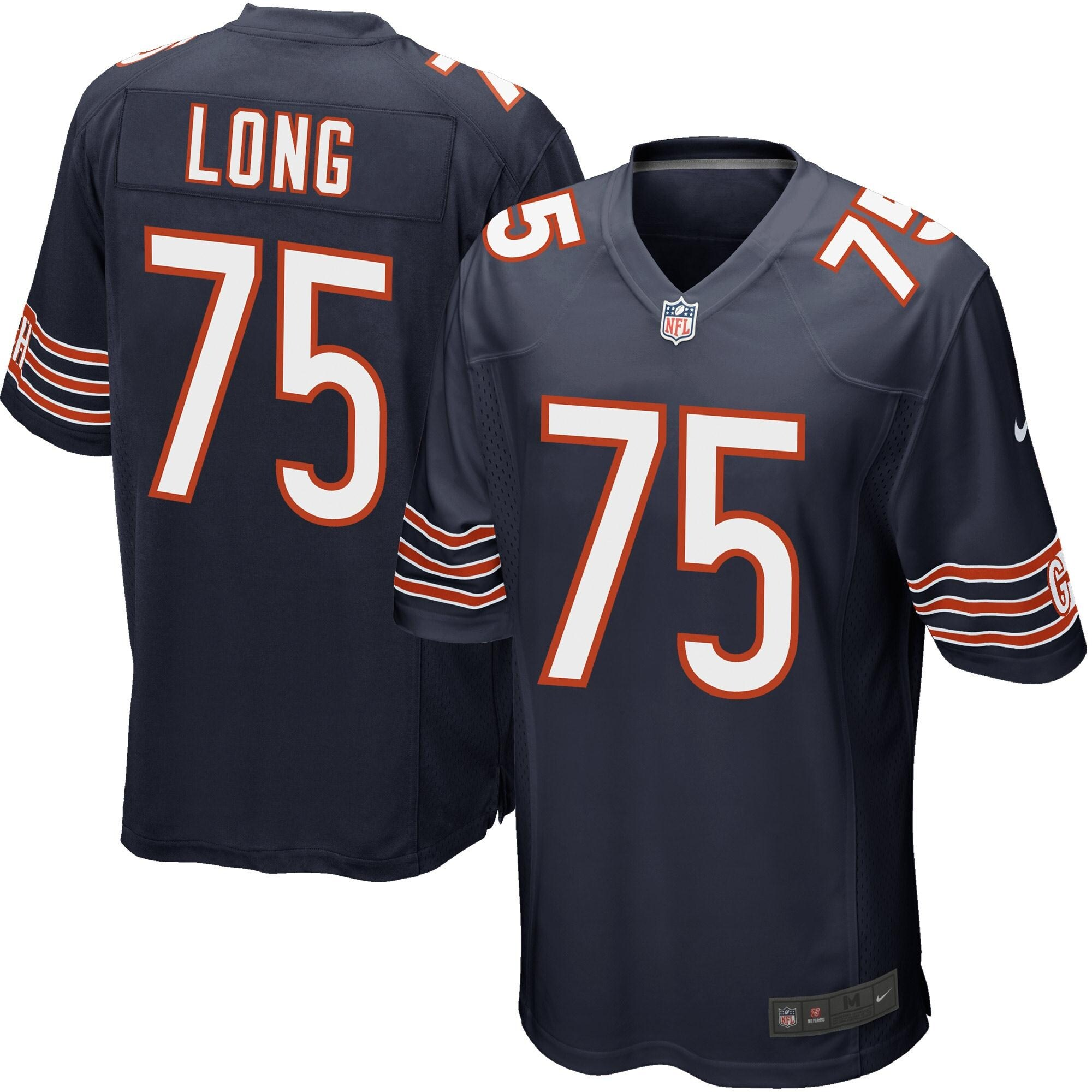 Kyle Long Chicago Bears Youth Nike Team Color Game Jersey - Navy Blue