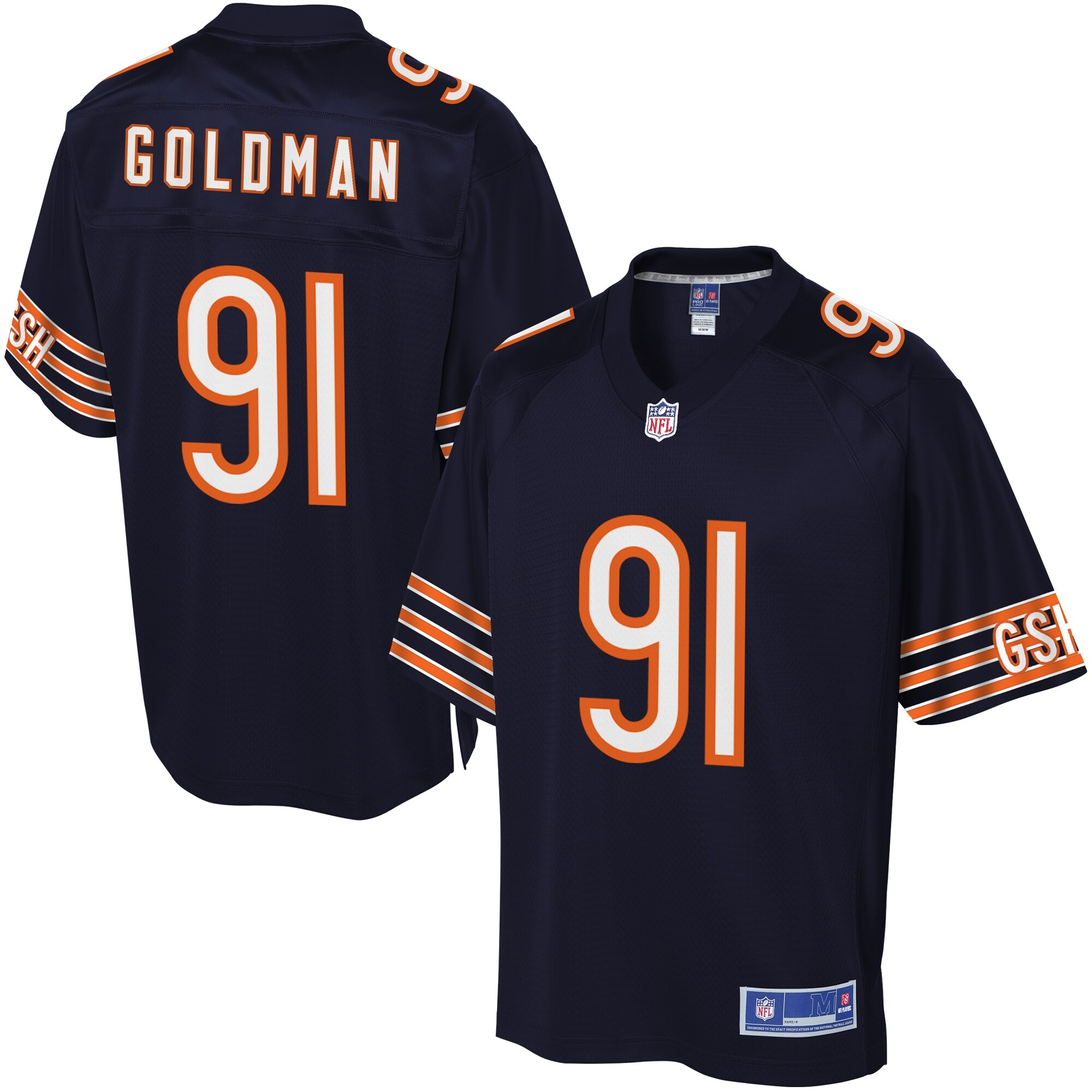 Men's Chicago Bears Eddie Goldman NFL Pro Line Team Color Jersey