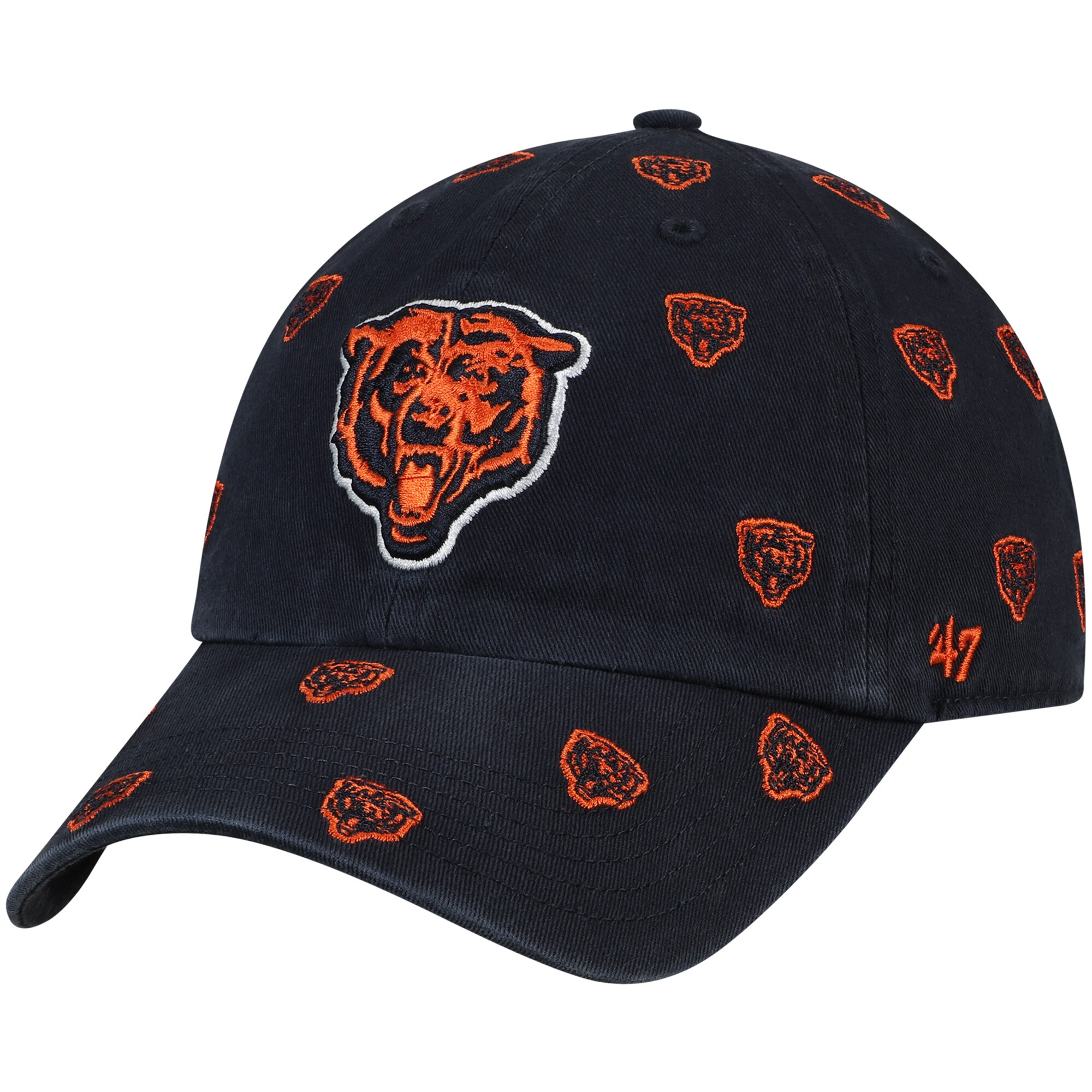 Chicago Bears '47 Women's Confetti Clean Up Adjustable Hat - Navy